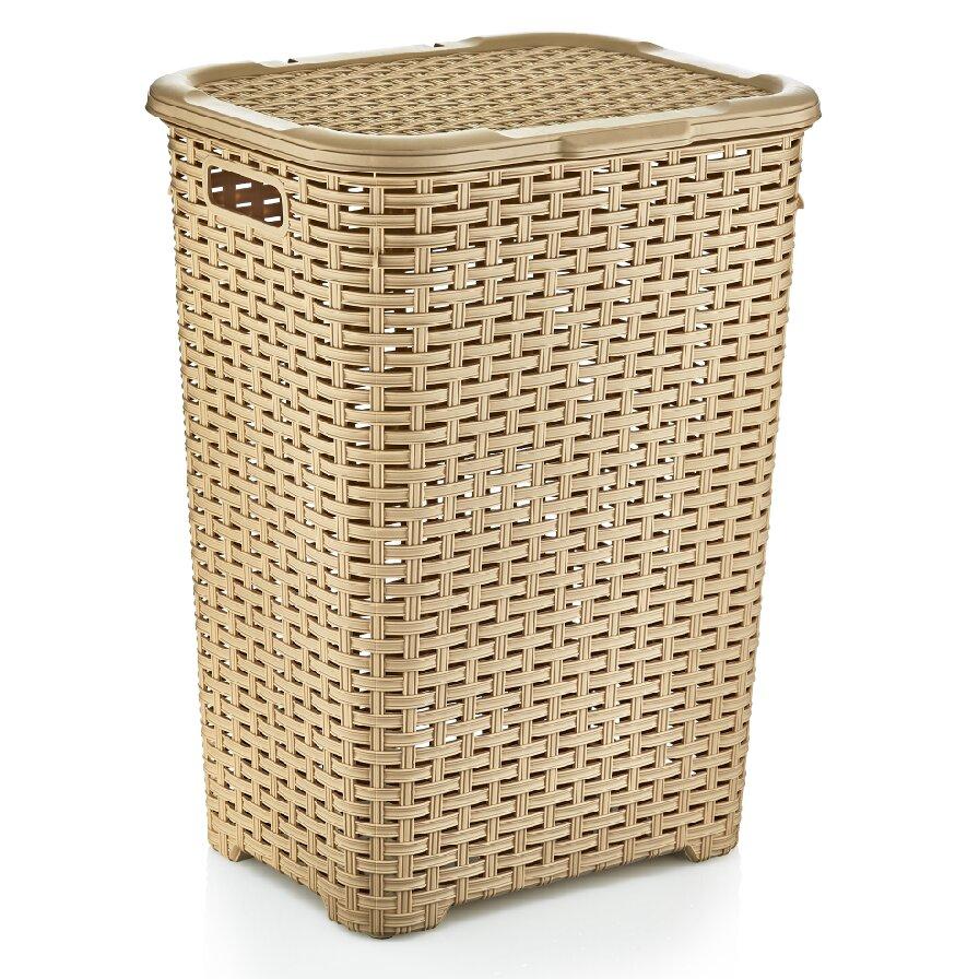 Superior performance superio brand wicker style laundry hamper reviews wayfair - Cane laundry hamper ...