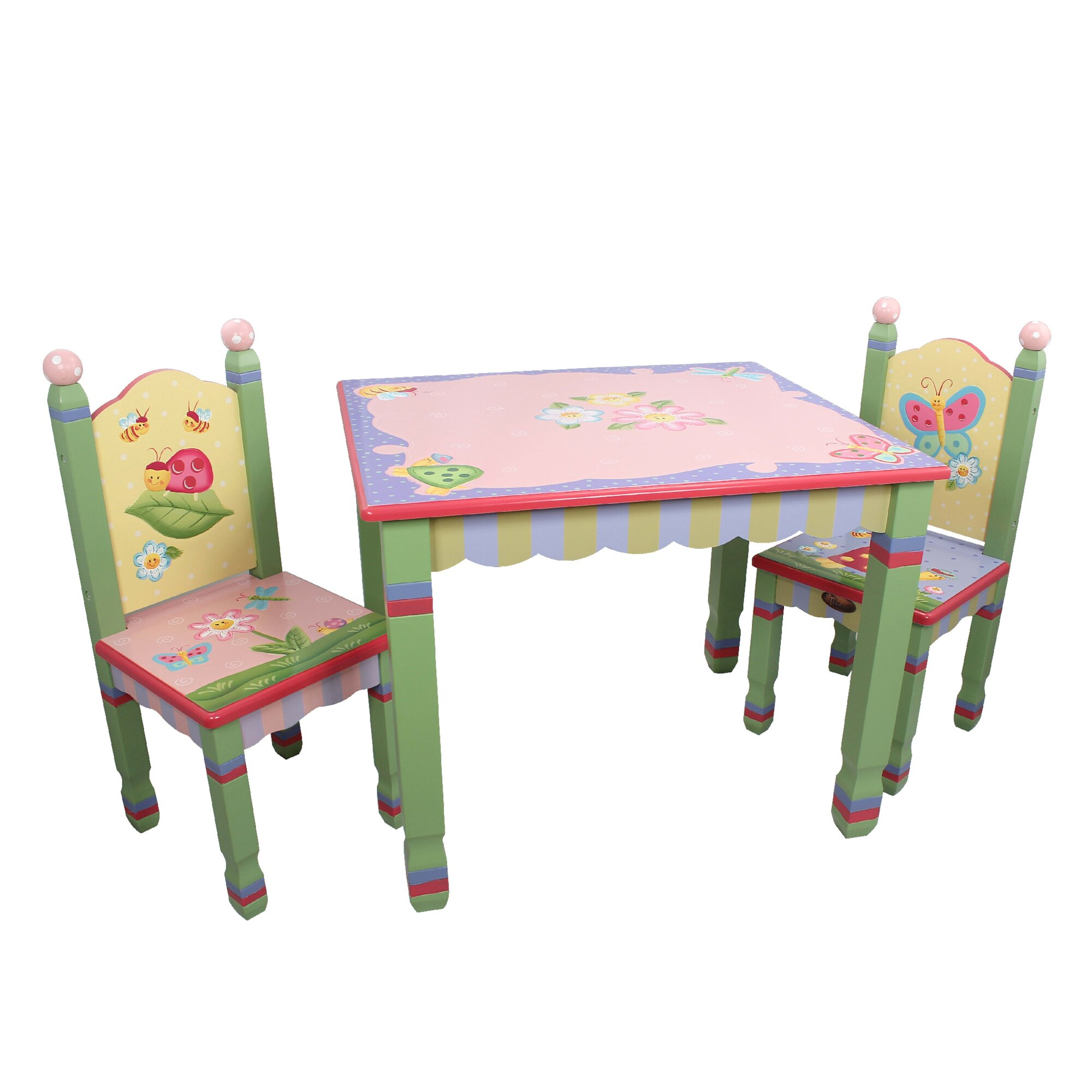 Fantasy fields magic garden kids 3 piece table chair set for Table and chair set