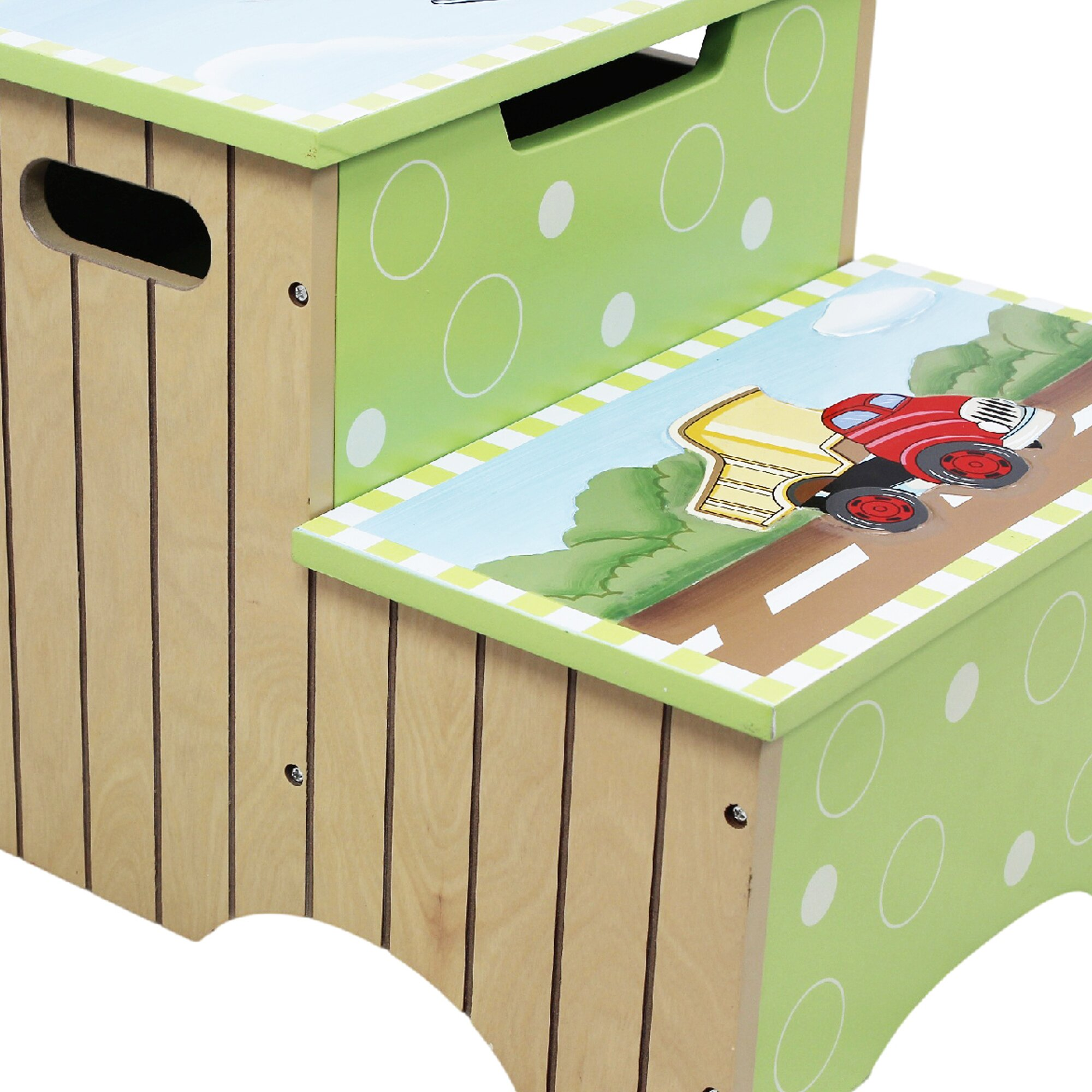 Fantasy Fields Transportation 2 Step Step Stool With