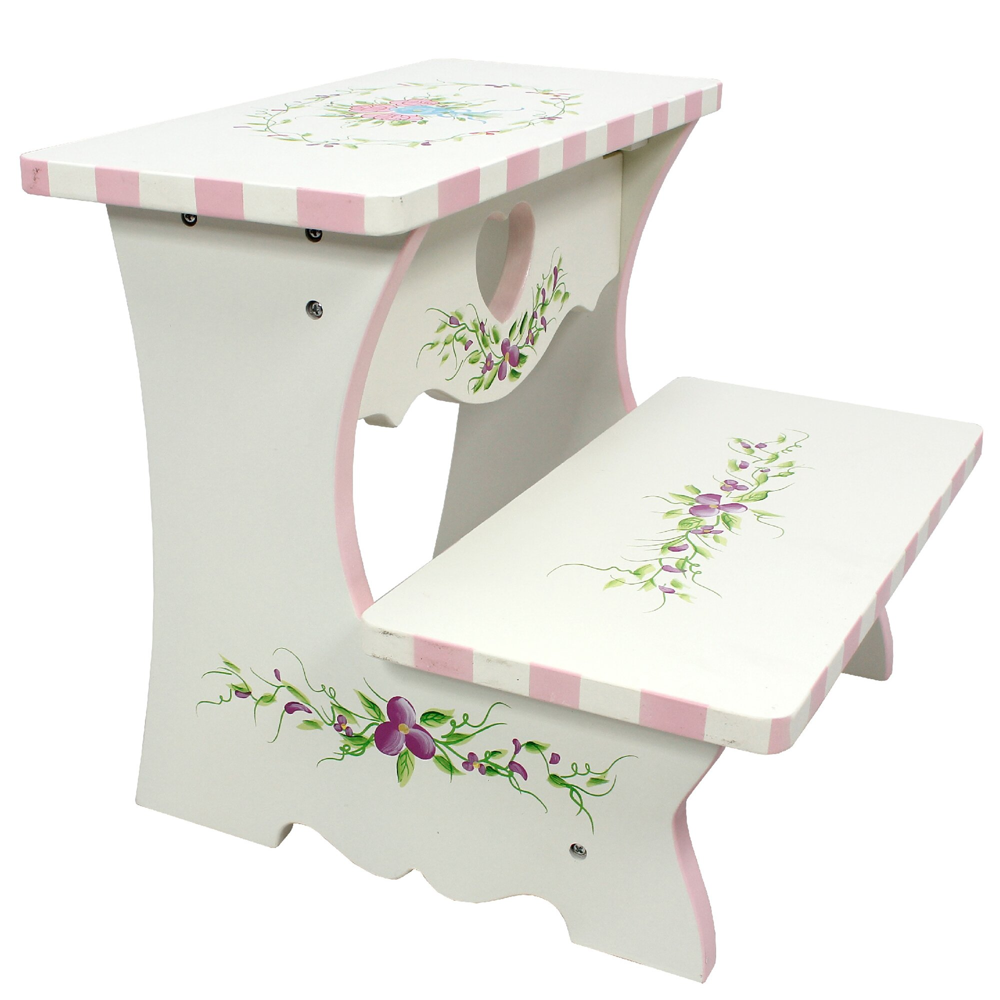 Fantasy Fields Bouquet 2 Step Manufactured Wood Step Stool
