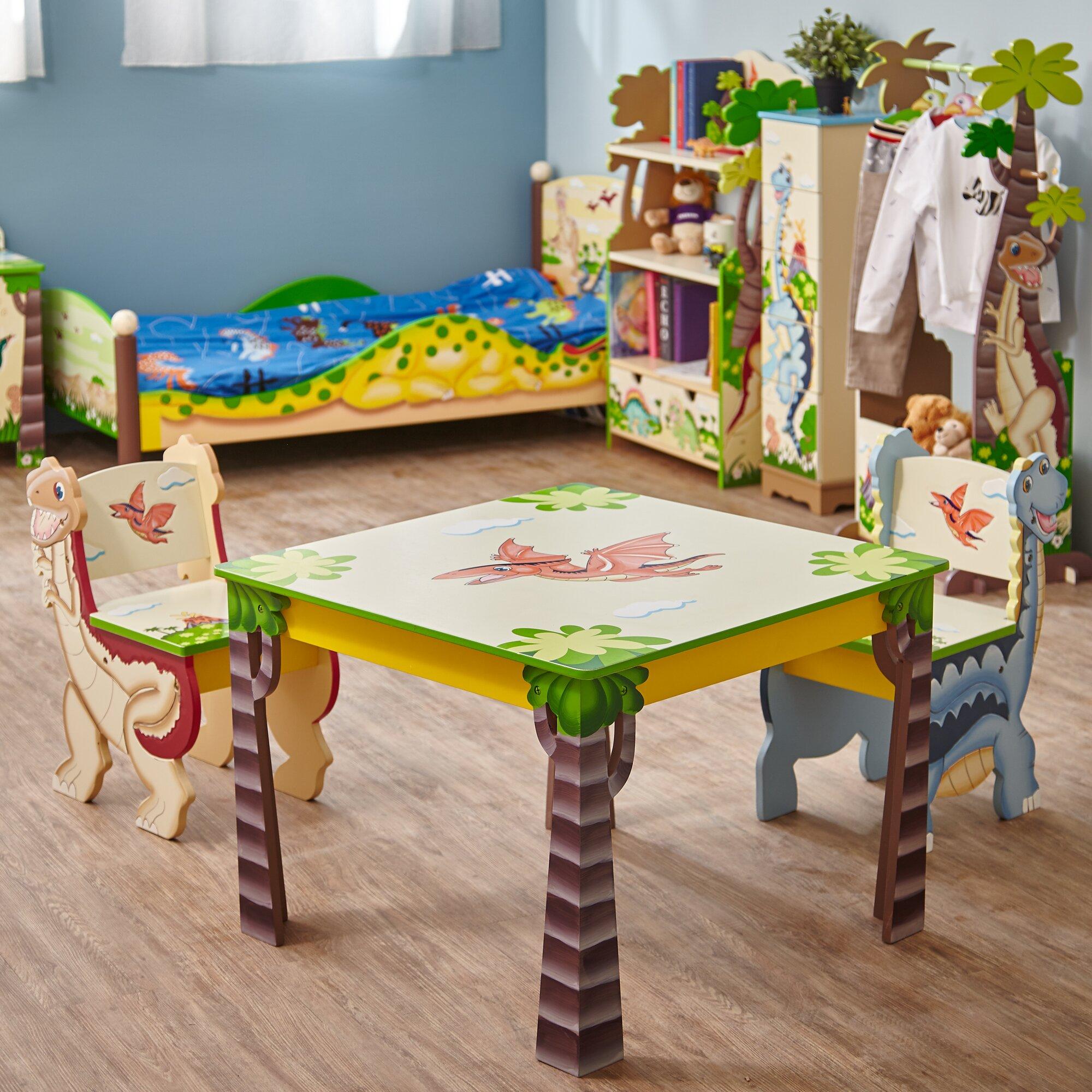 Fantasy Fields Dinosaur Kingdom Kids 3 Piece Table Amp Chair