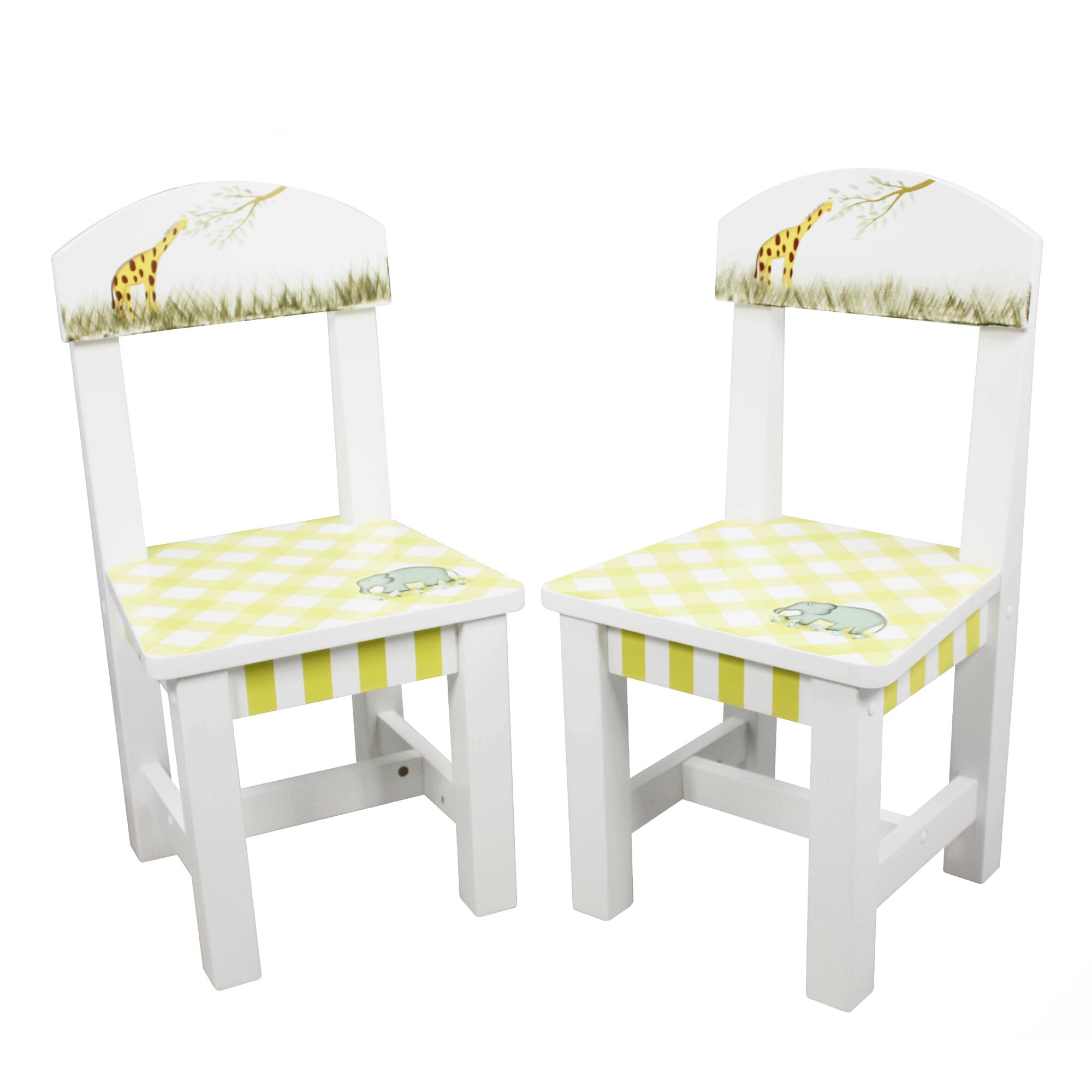 Fantasy fields alphabet kids 3 piece table and chair set for Kid craft table and chairs