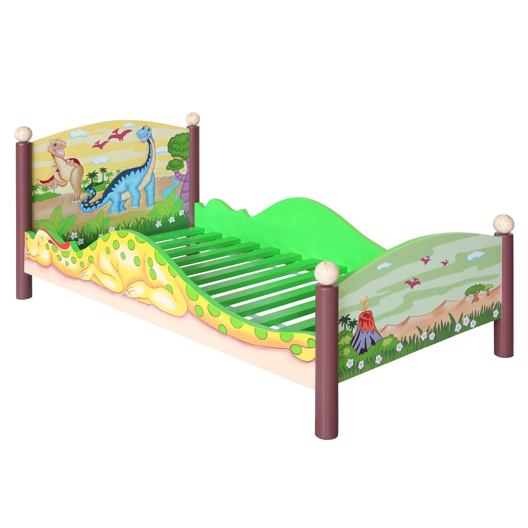 Fantasy Fields Dinosaur Kingdom Convertible Toddler Bed Wayfair