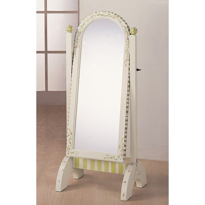 Fantasy fields alphabet standing mirror in white reviews for White long standing mirror