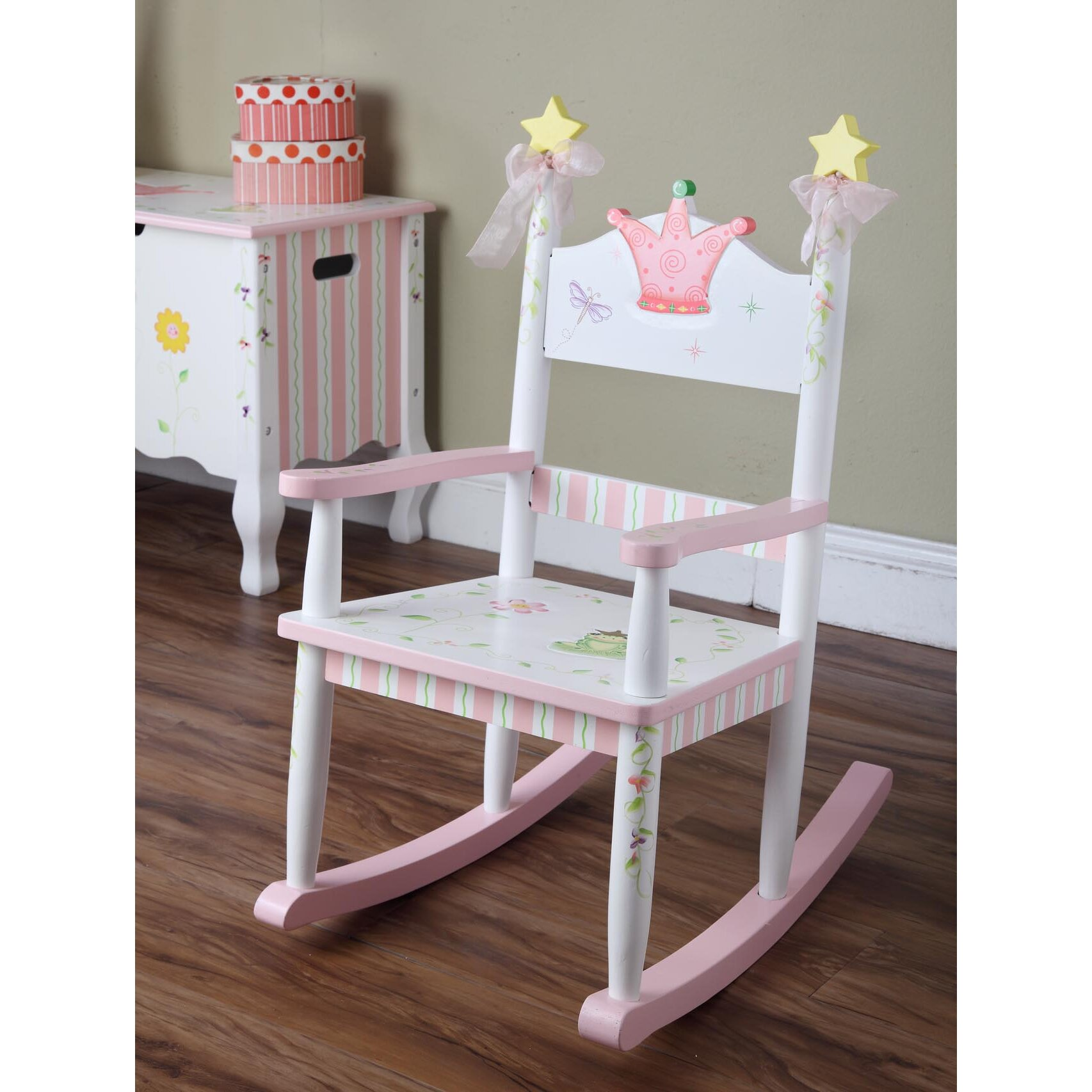 ... Fields Princess and Frog Kids Rocking Chair & Reviews  Wayfair