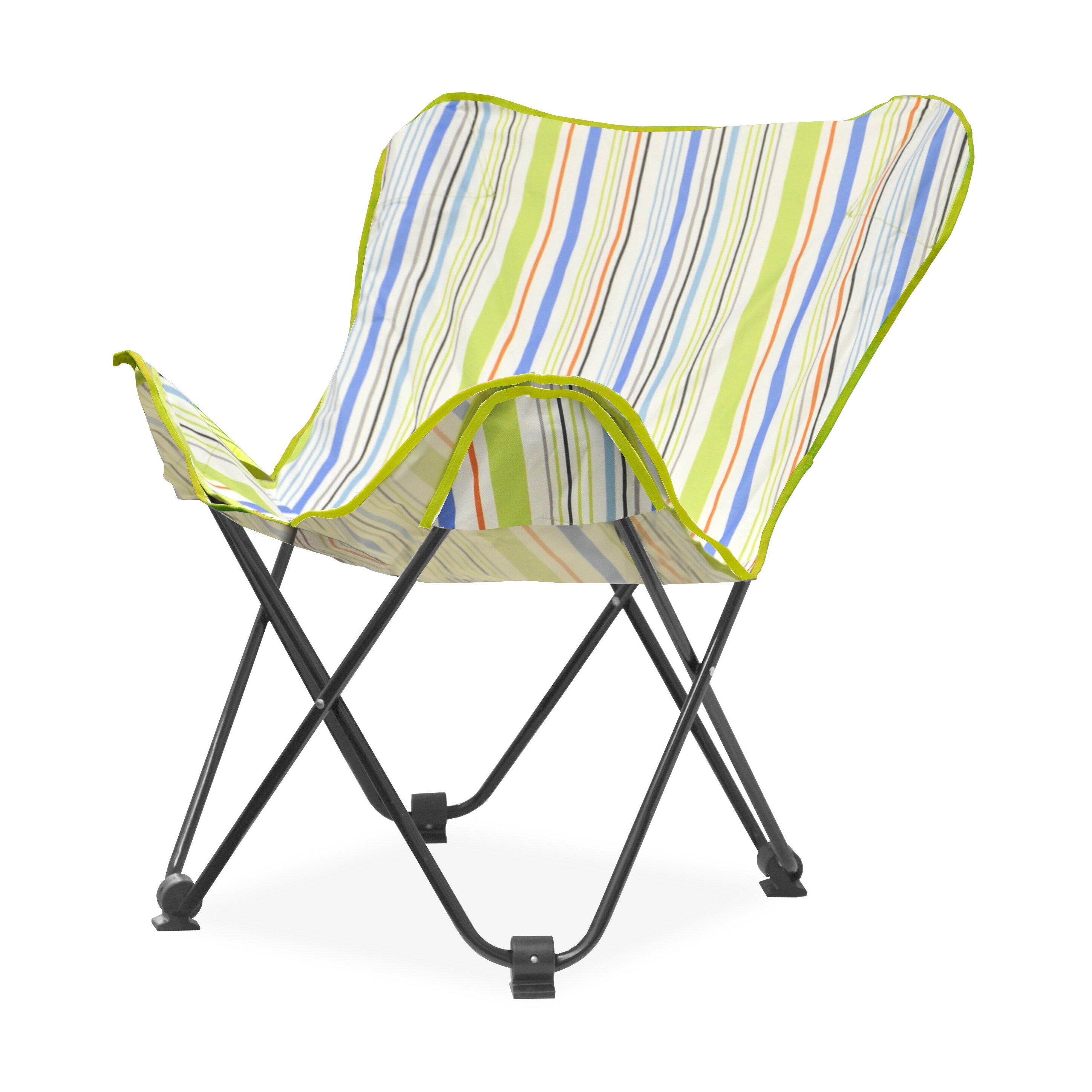Idea Nuova Urban Shop Surfer Stripe Butterfly Lounge Chair & Reviews