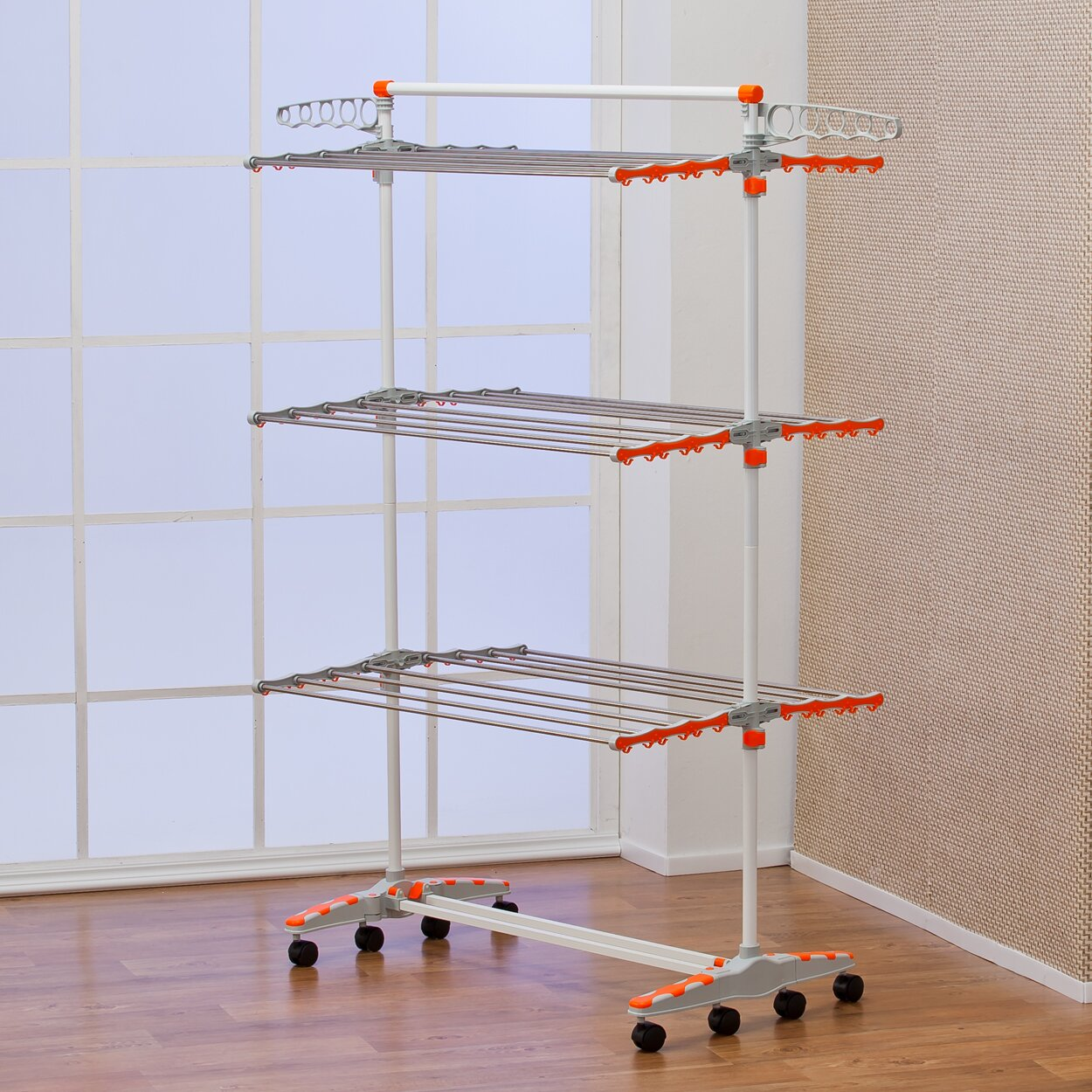 Badoogi Foldable Amp Compact Storage Clothes Drying Rack