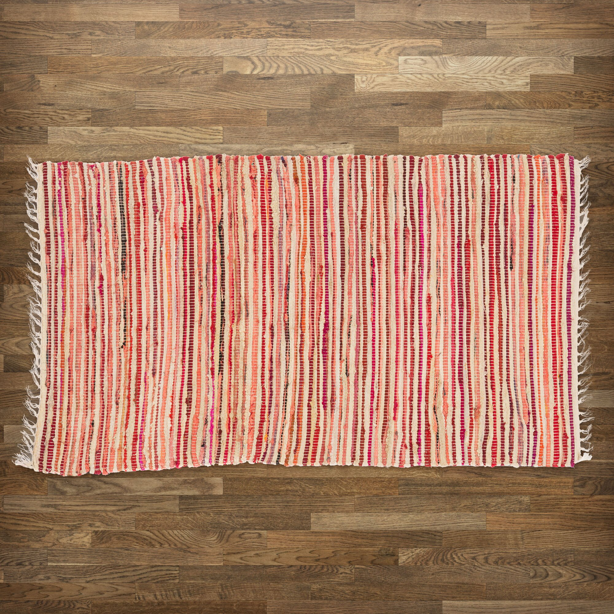 Zipcode design rosalyn red multi striped area rug for Red and white striped area rug