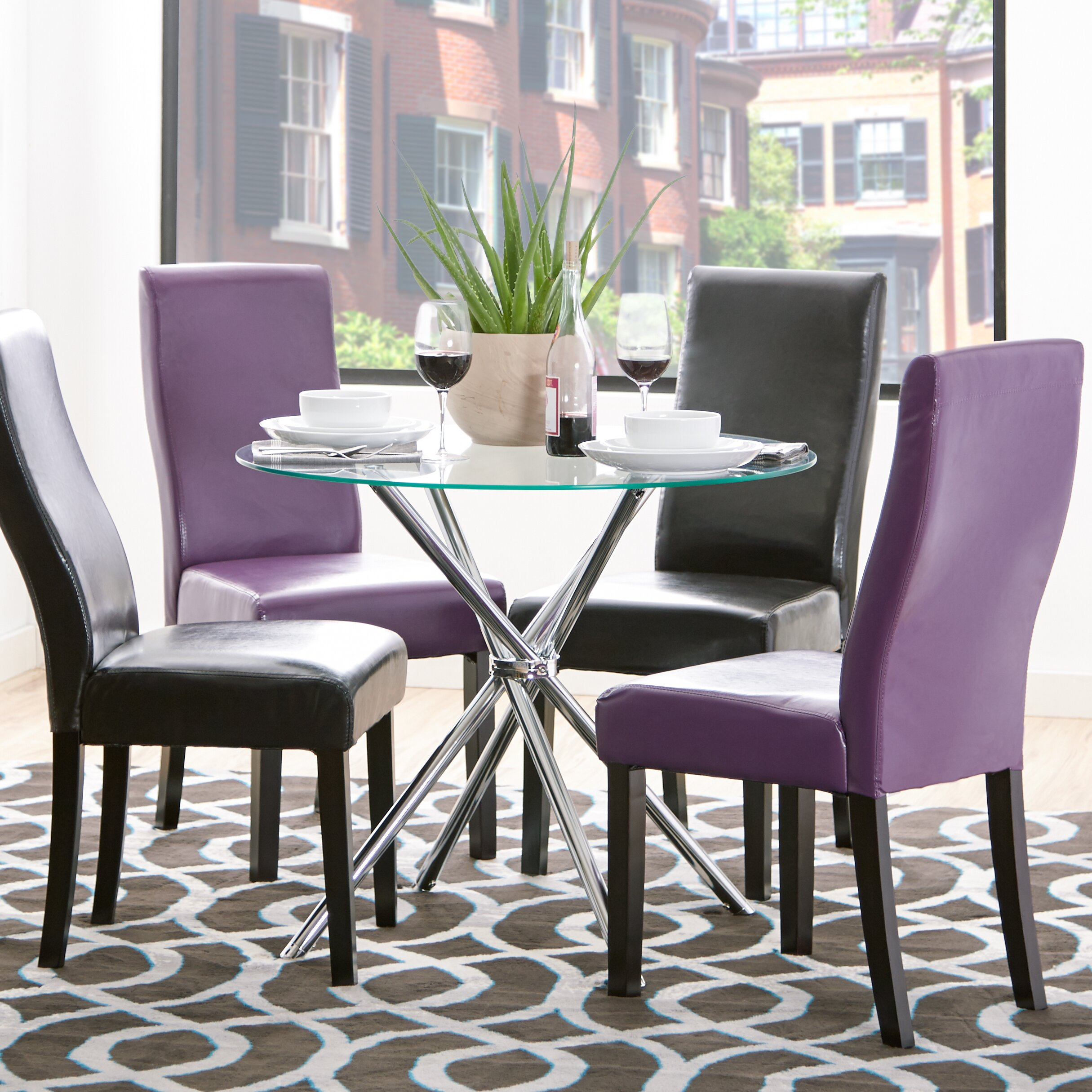 zipcode design vince glass round dining table reviews
