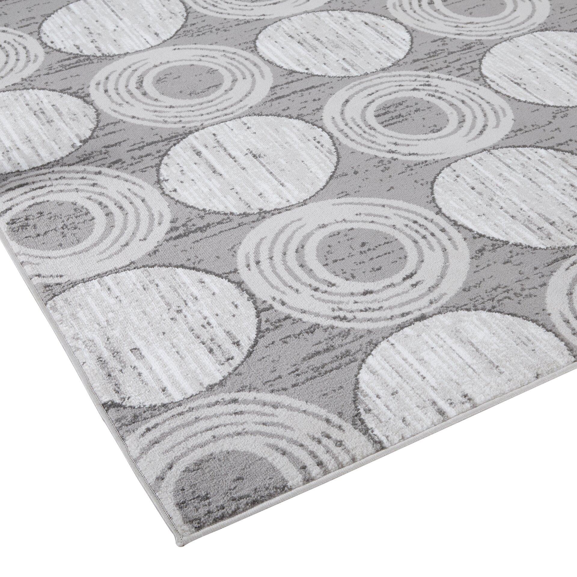 Zipcode Design Gray Circles Area Rug Amp Reviews Wayfair
