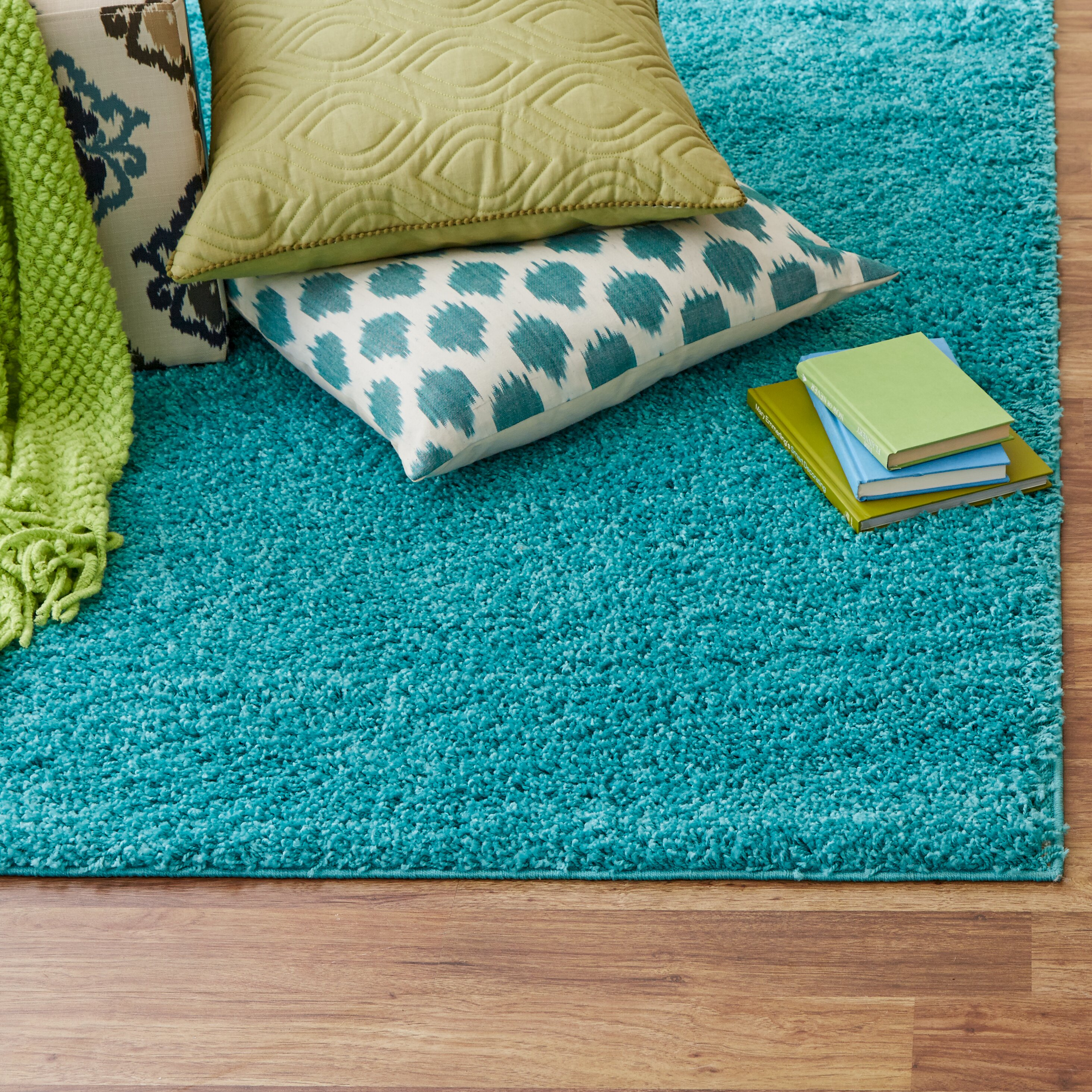 Zipcode Design Alexis Turquoise Area Rug Reviews Wayfair