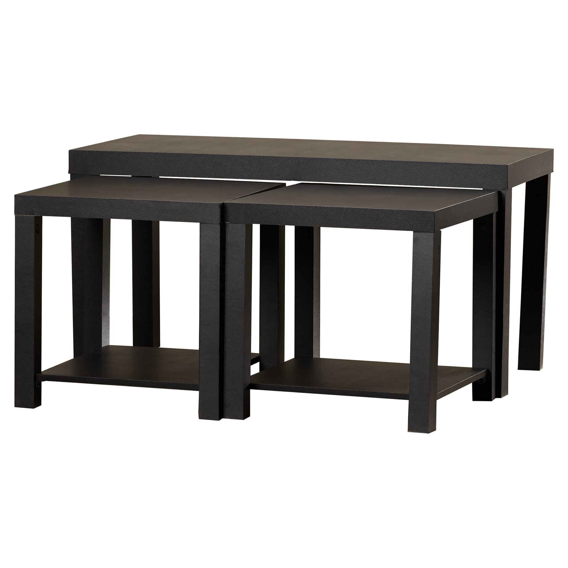 Coffee Table And End Table Sets: Zipcode™ Design Clarice 3 Piece Mini Coffee Table Set