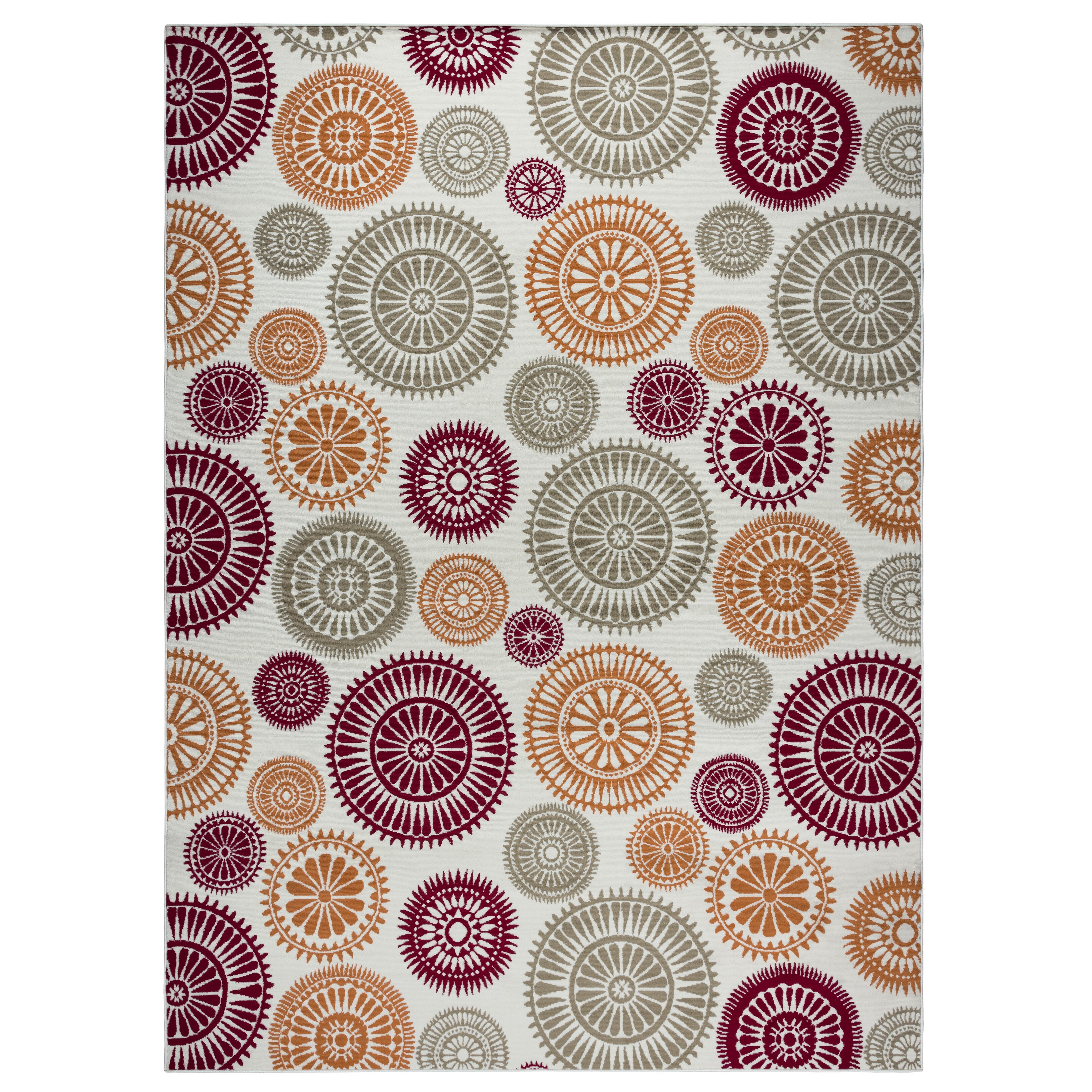 Xl Purple Rug: Zipcode™ Design Lucia Brown/Gray/Purple Indoor/Outdoor