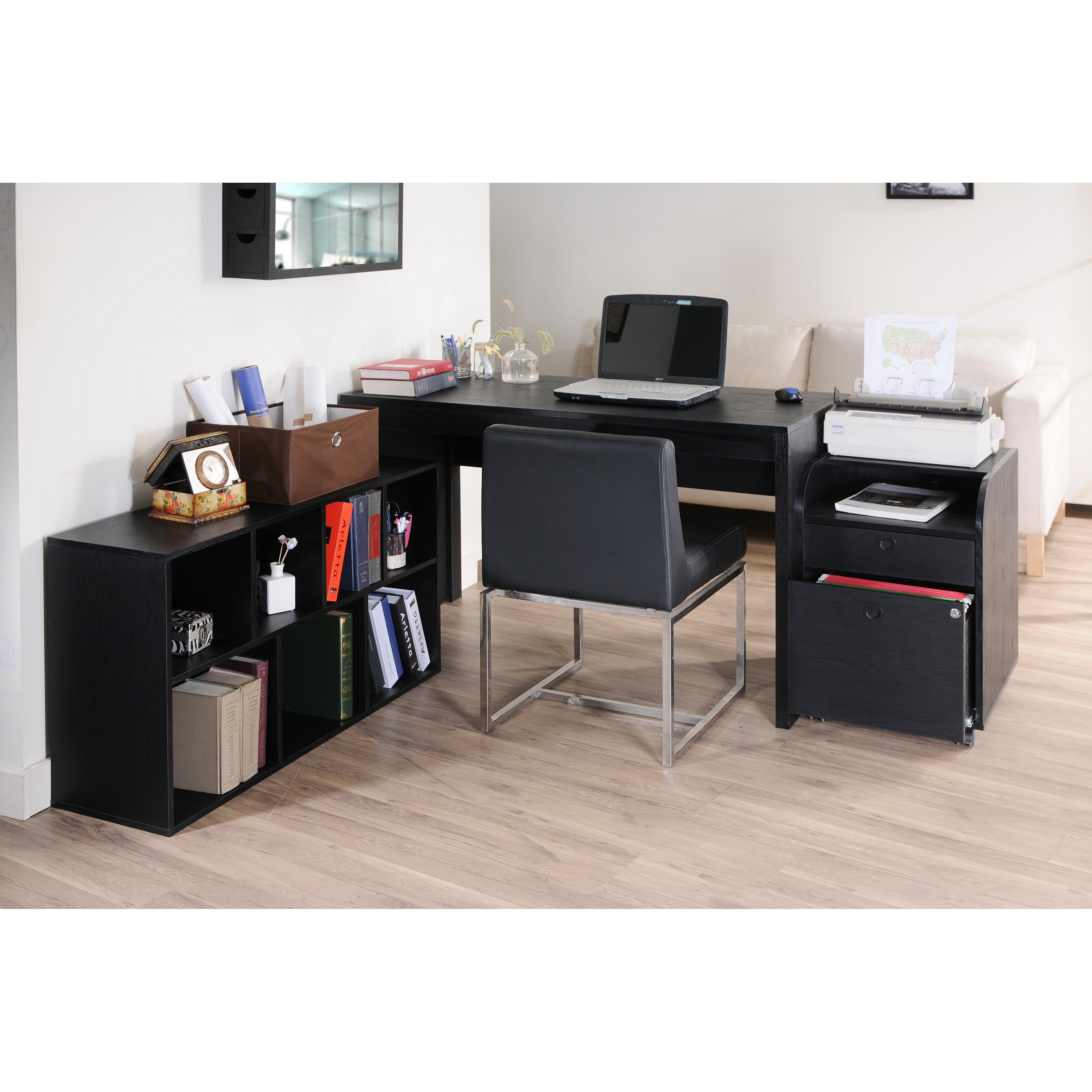 Zipcode™ Design Naomi 2 Piece Modular Computer Desk With. Wedding Table Setting. Desk And Bed Set. Inspirational Quotes For Office Desk. Table Easel