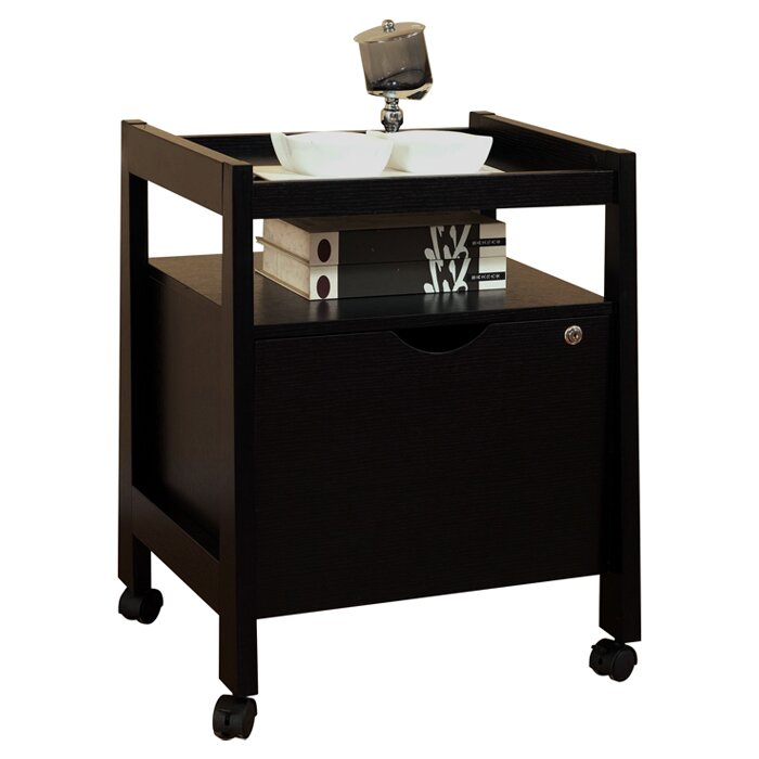 Zipcode design felicia 1 drawer mobile modern equipment for Furniture y equipment