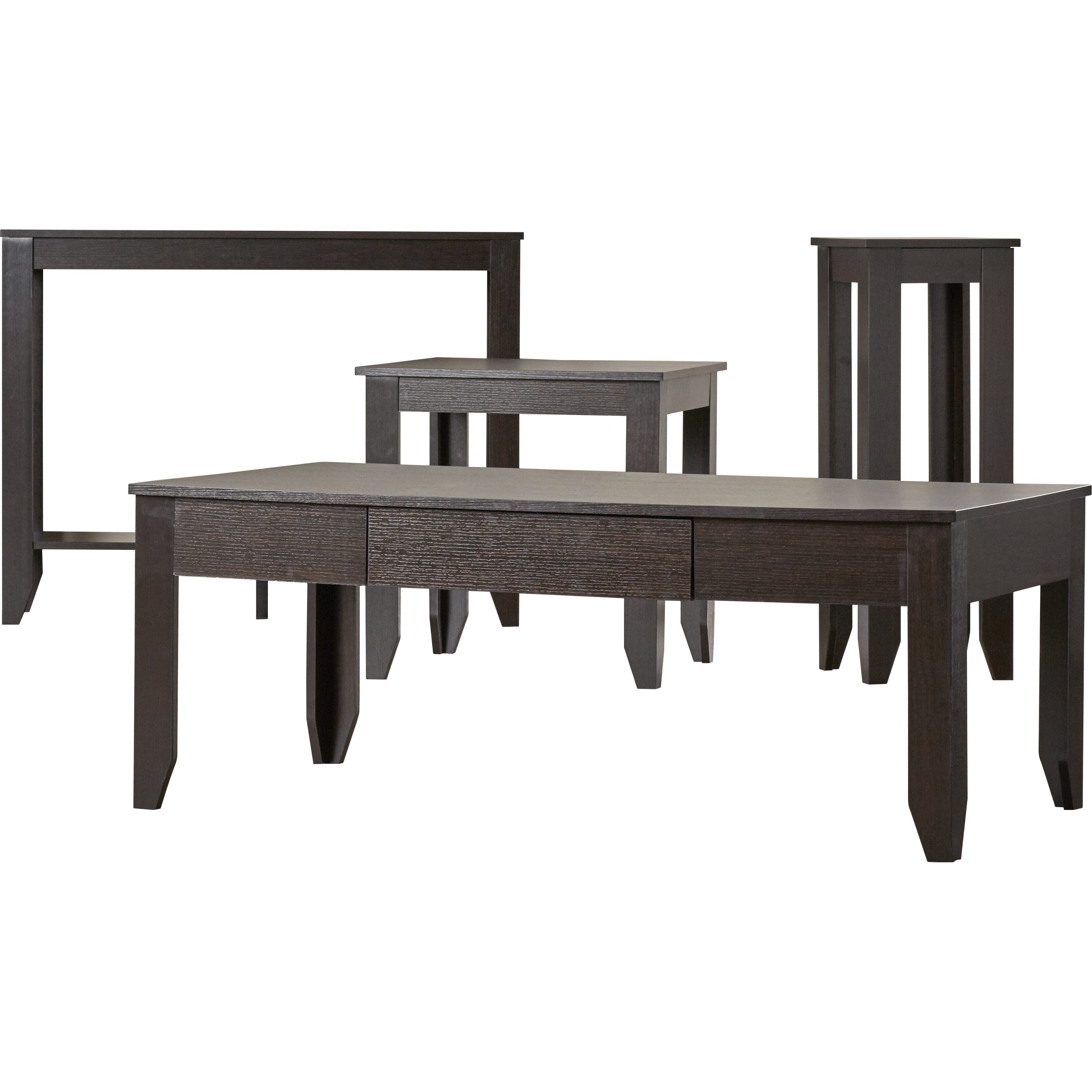 Zipcode design kaylee 4 piece coffee table set reviews for 4 piece living room table set