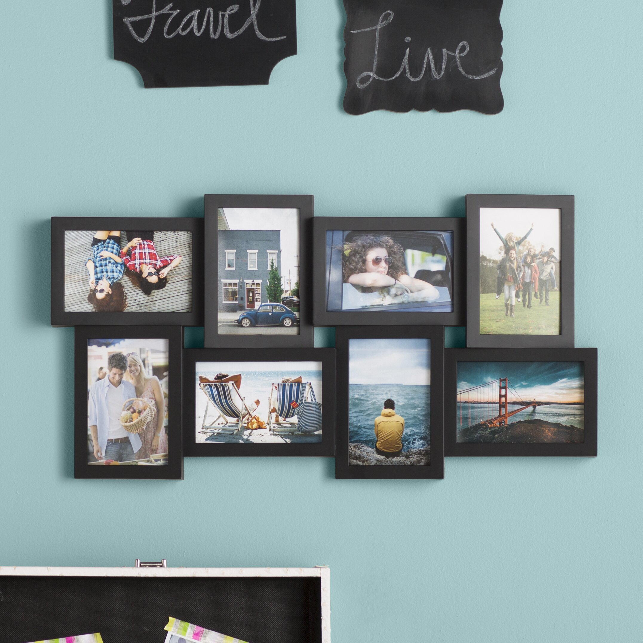 zipcode design jolene 8 opening collage picture frame reviews wayfair. Black Bedroom Furniture Sets. Home Design Ideas