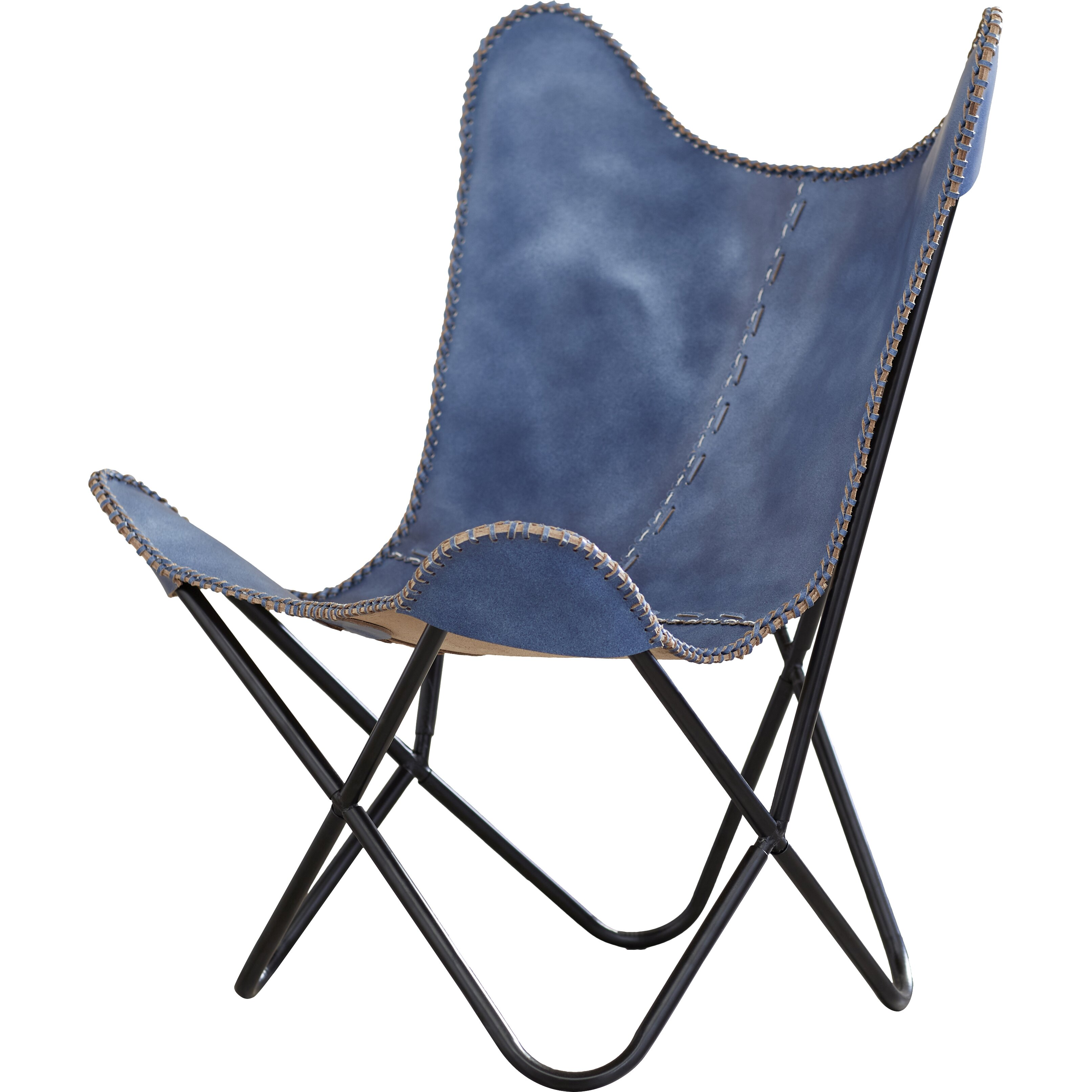 Zipcode™ Design Sharon Leather Butterfly Lounge Chair & Reviews
