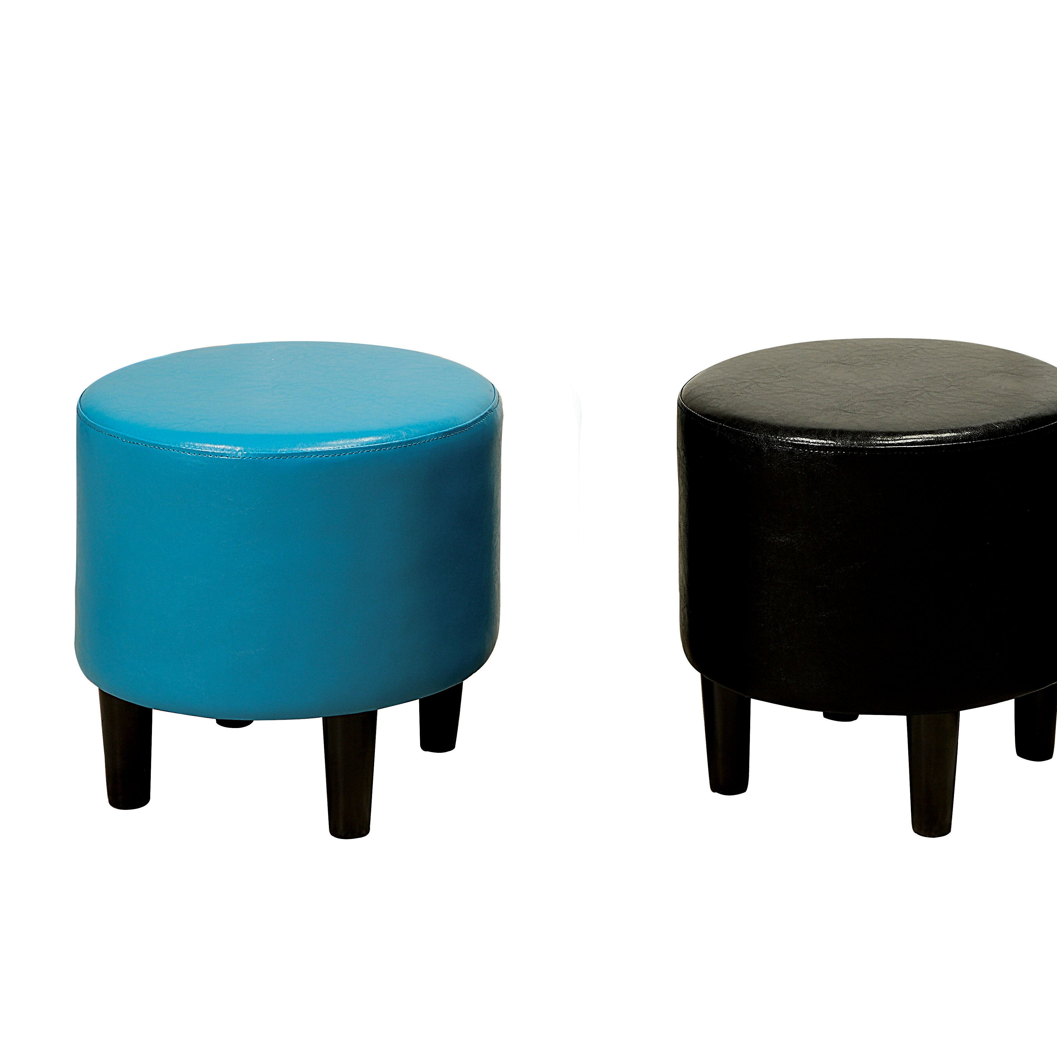 Round Leather Ottoman Design : Zipcode™ Design Sheila Ryker Leather Padded Round Ottoman & Reviews ...