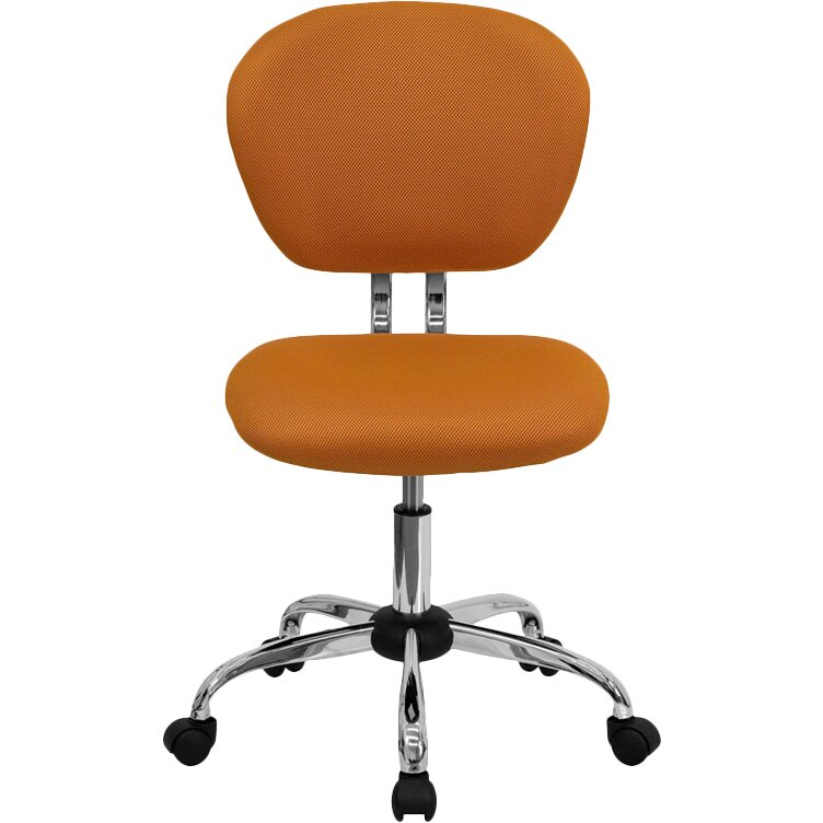 Zipcode Design Mid Back Adjustable Office Chair In Tangerine Reviews