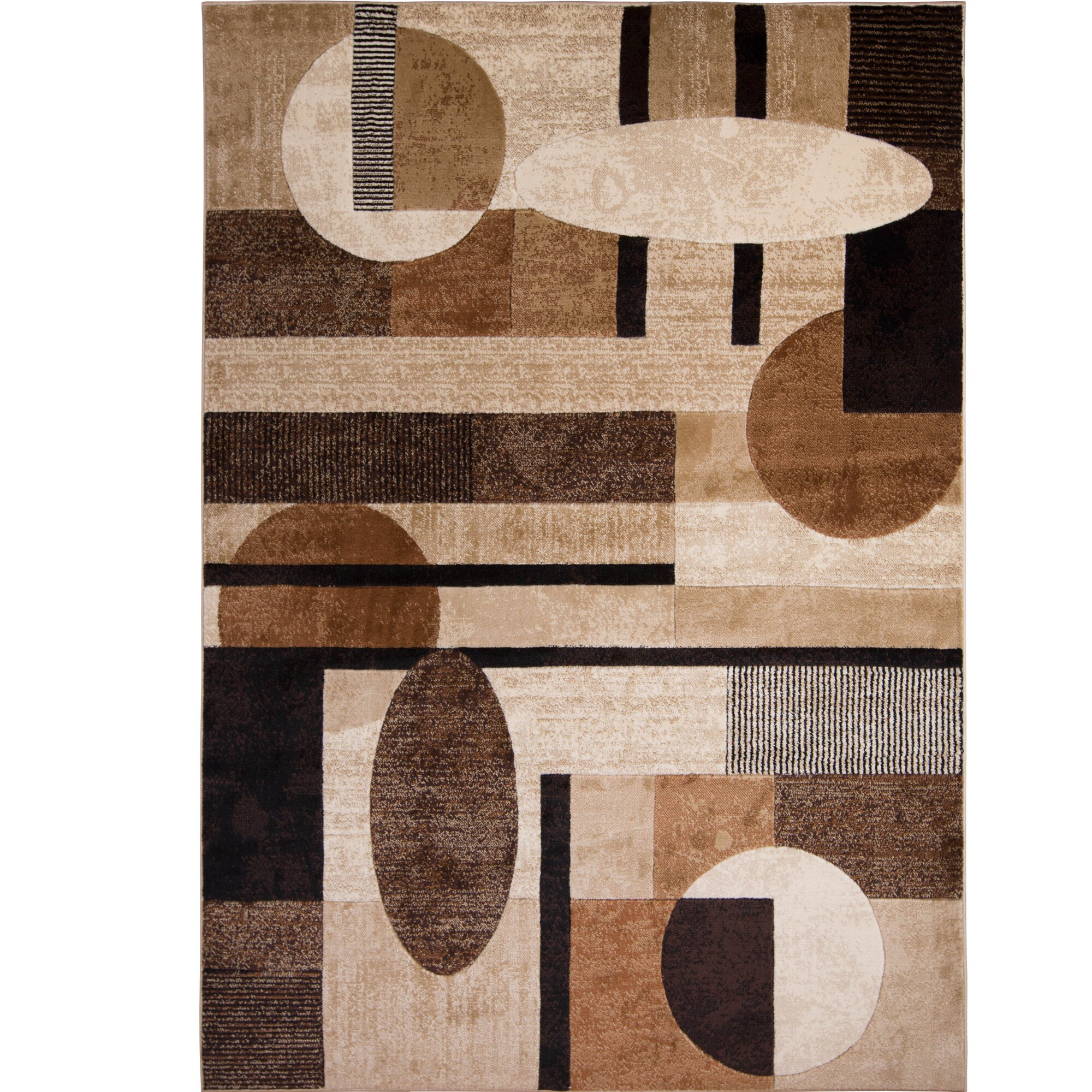 Zipcode Design Nolan Patterned Brown Tan Area Rug