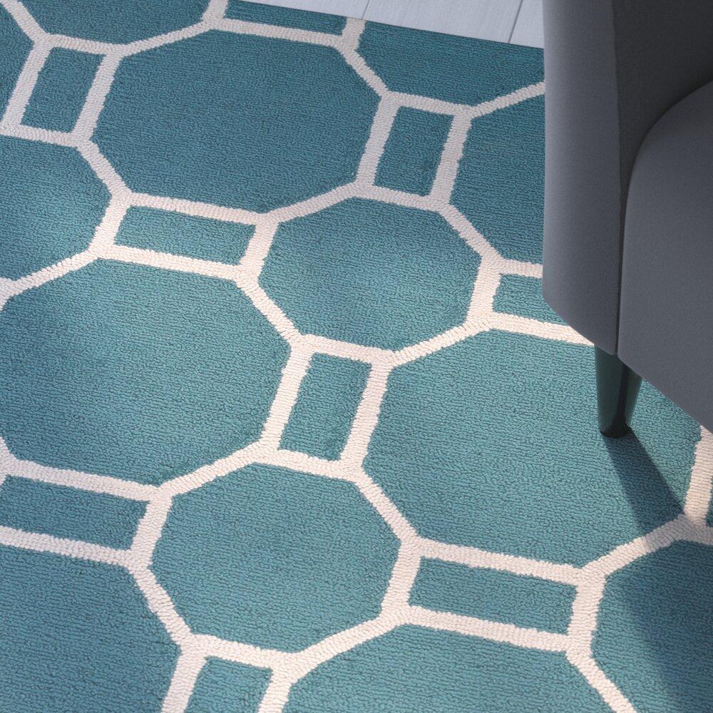 Zipcode™ Design June Hand-Tufted Teal Indoor/Outdoor Area