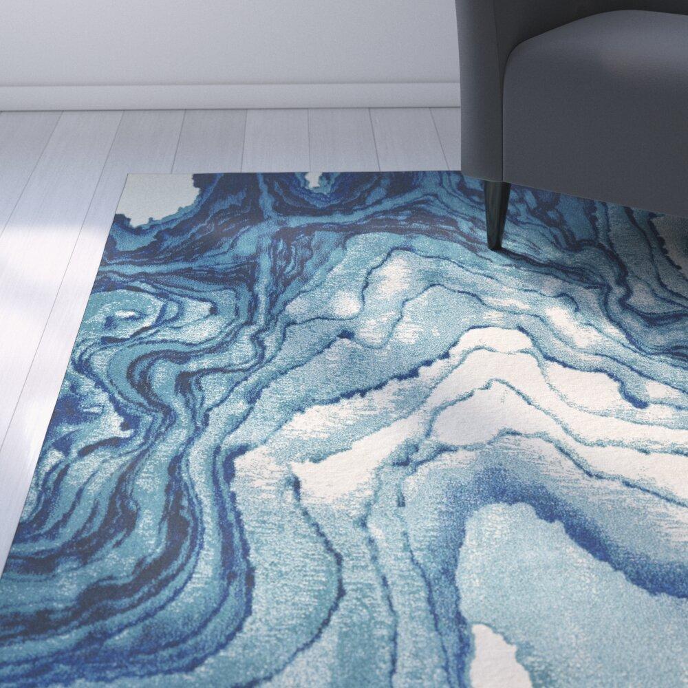 Zipcode™ Design Angeline Blue Area Rug & Reviews