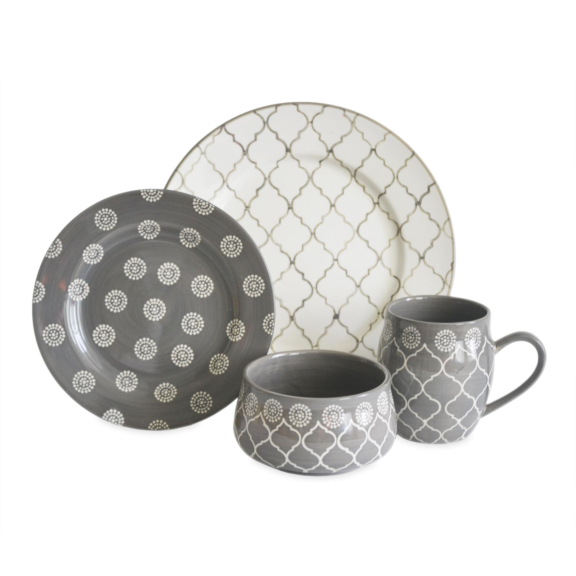 Baum Moroccan 16 Piece Dinnerware Set Amp Reviews Wayfair