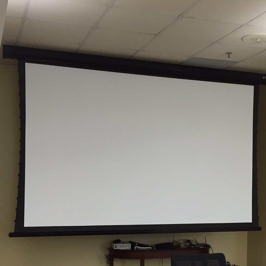 Elite screens cinetension2 white electric projection for Motorized projector screen reviews