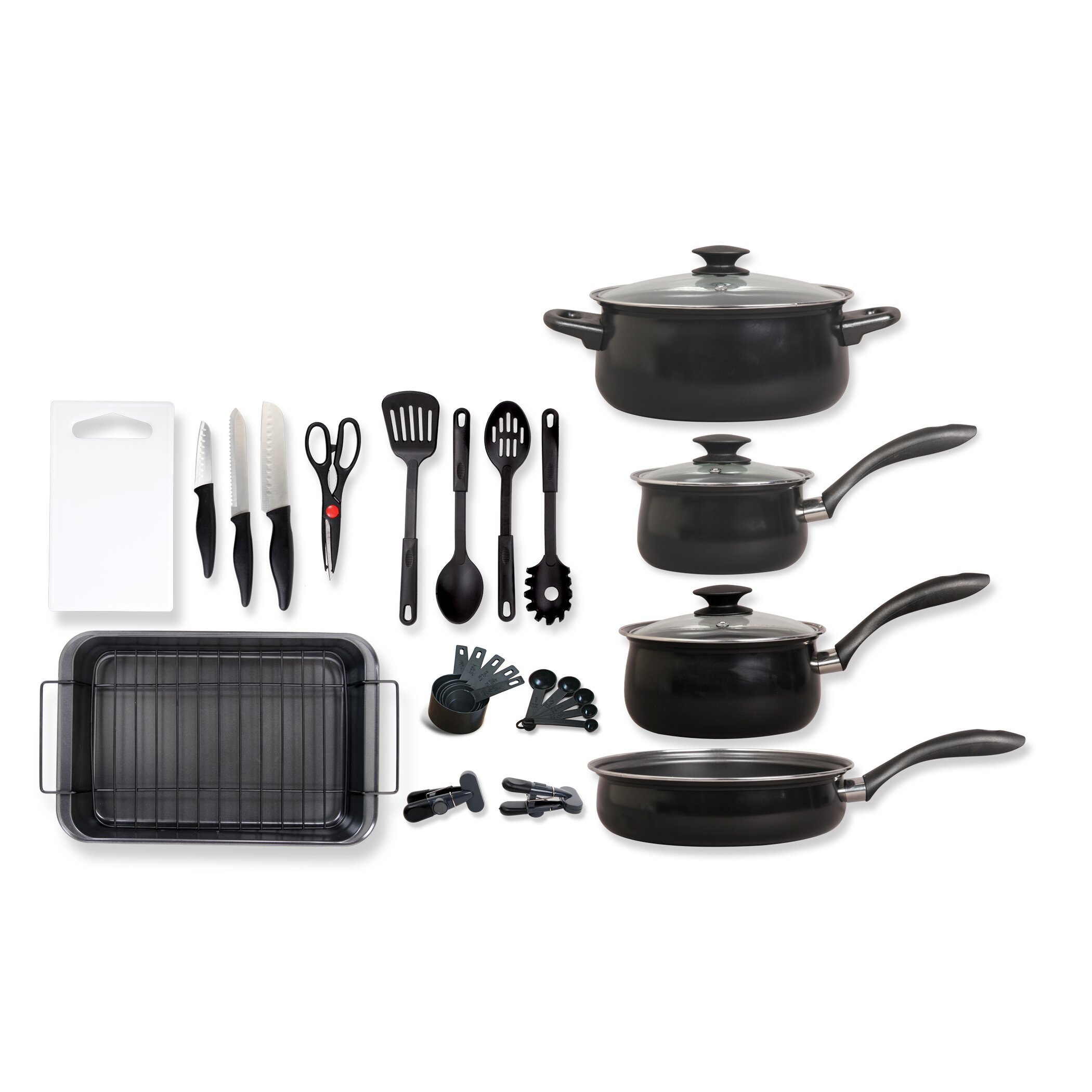 Gibson Kitchen 30 Piece Cookware Combo Set Reviews Wayfair