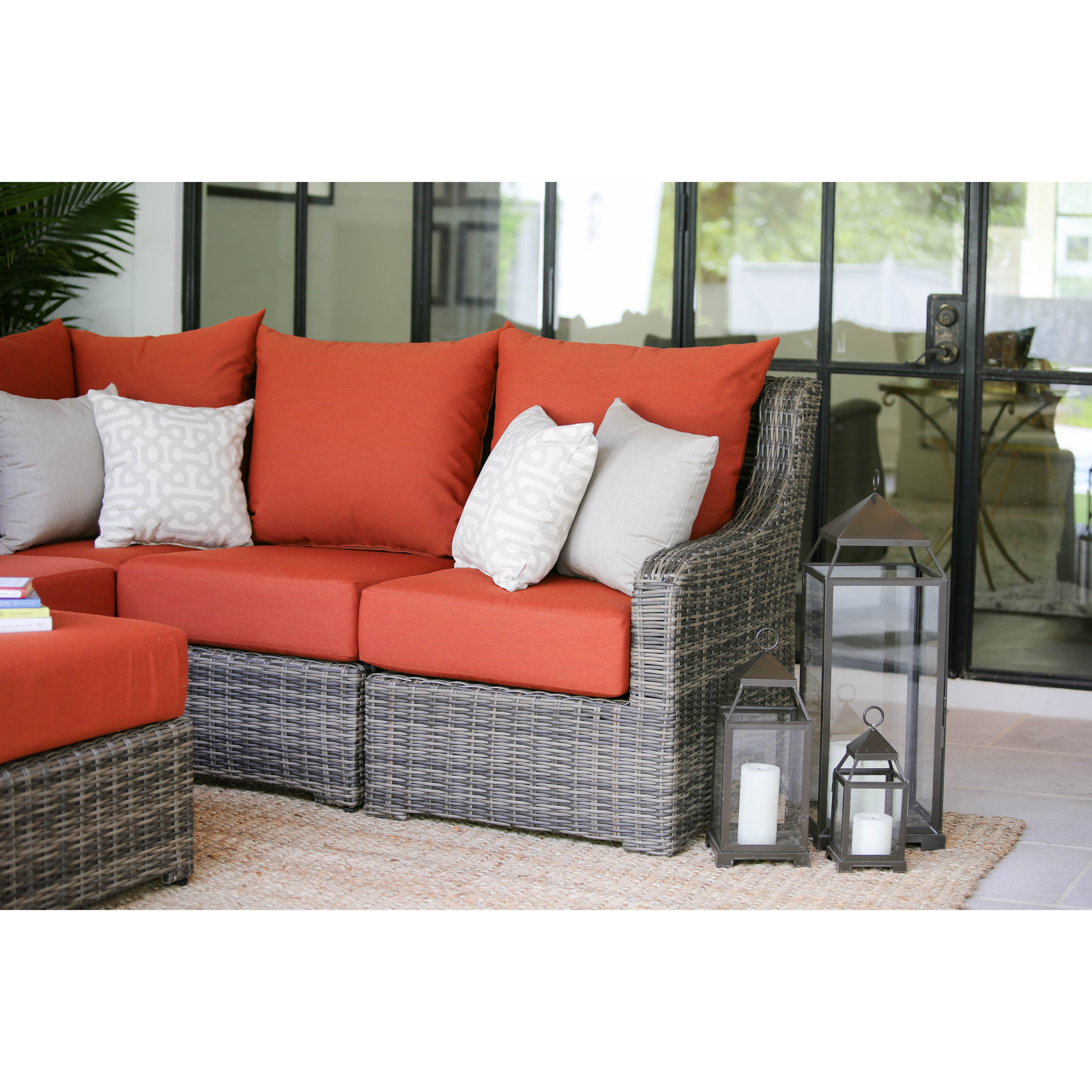 ae outdoor cherry hill reversible chaise sectional wayfair