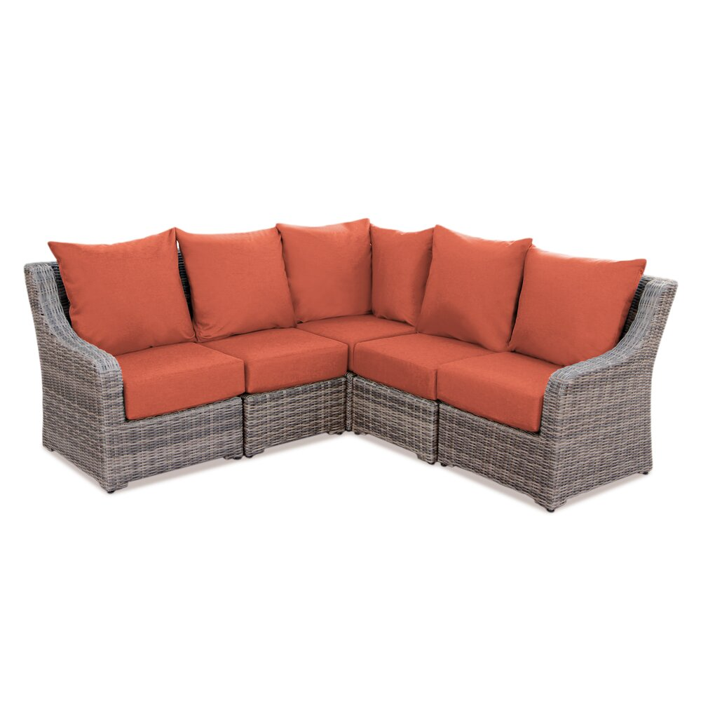 AE Outdoor Cherry Hill Sectional Sofa with Cushions