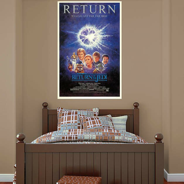 vi the return of the jedi movie poster peel and stick wall mural