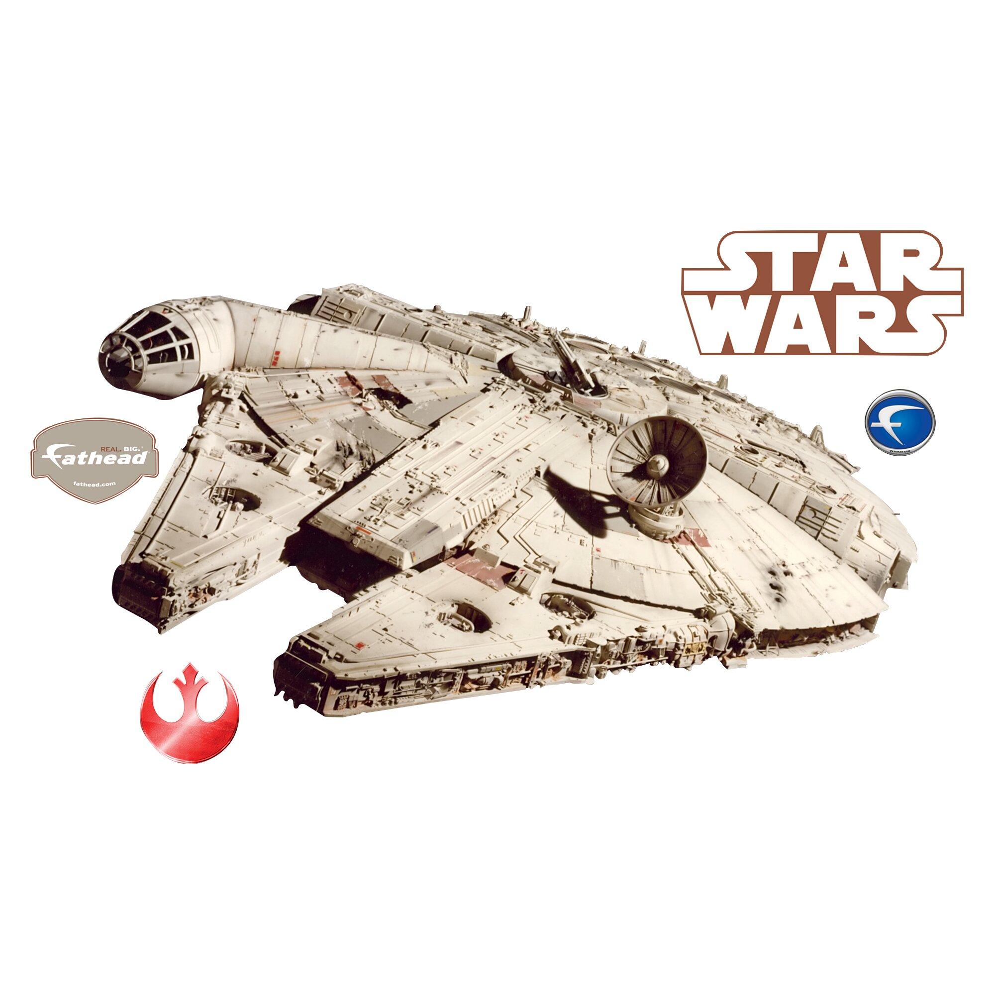 Fathead Star Wars Millenium Falcon Wall Decal Amp Reviews