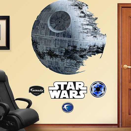 Fathead star wars death star wall decal reviews wayfair for Death star wall mural