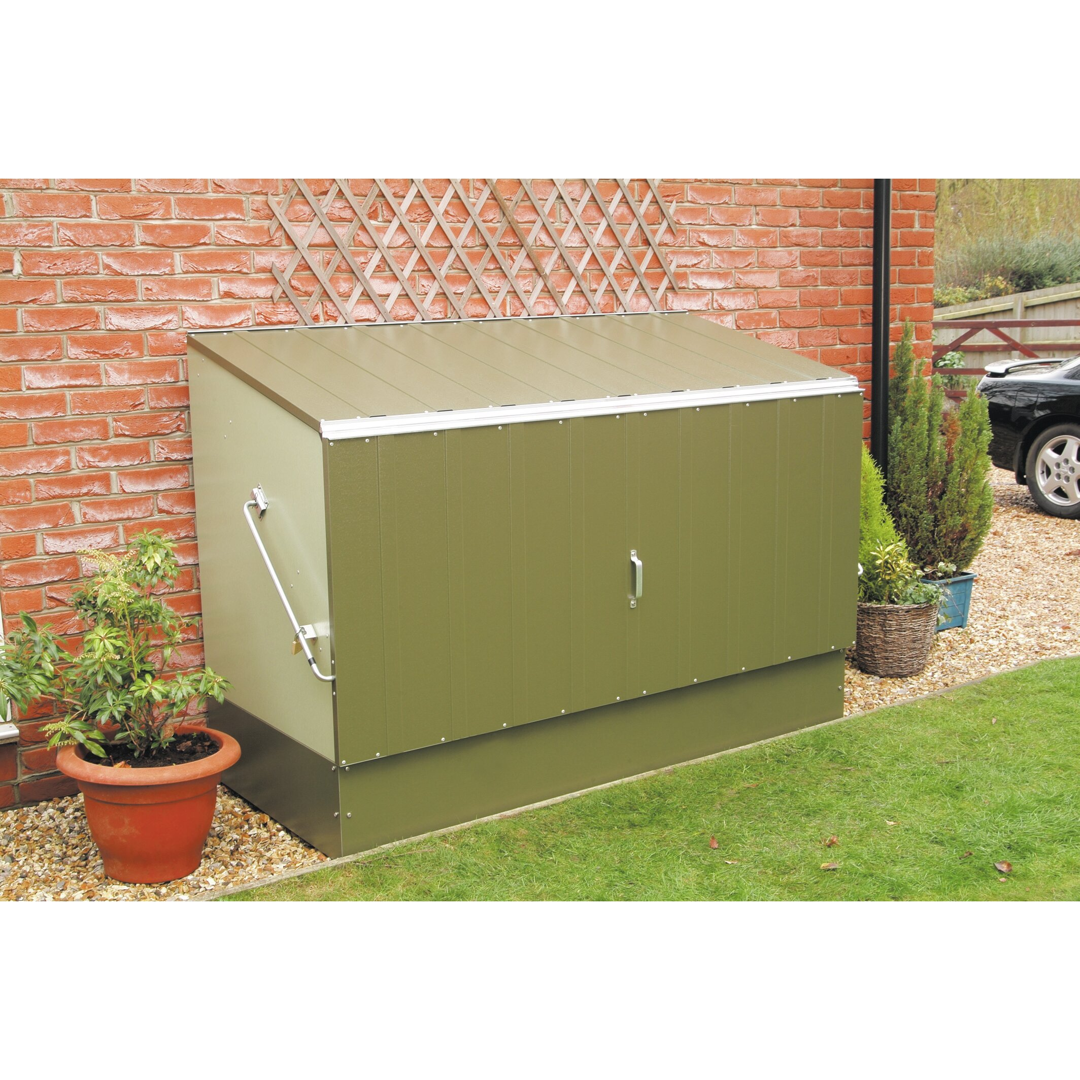 Rowlinson 4 ft h x 6 ft w steel storage shed reviews for 300 square foot shed