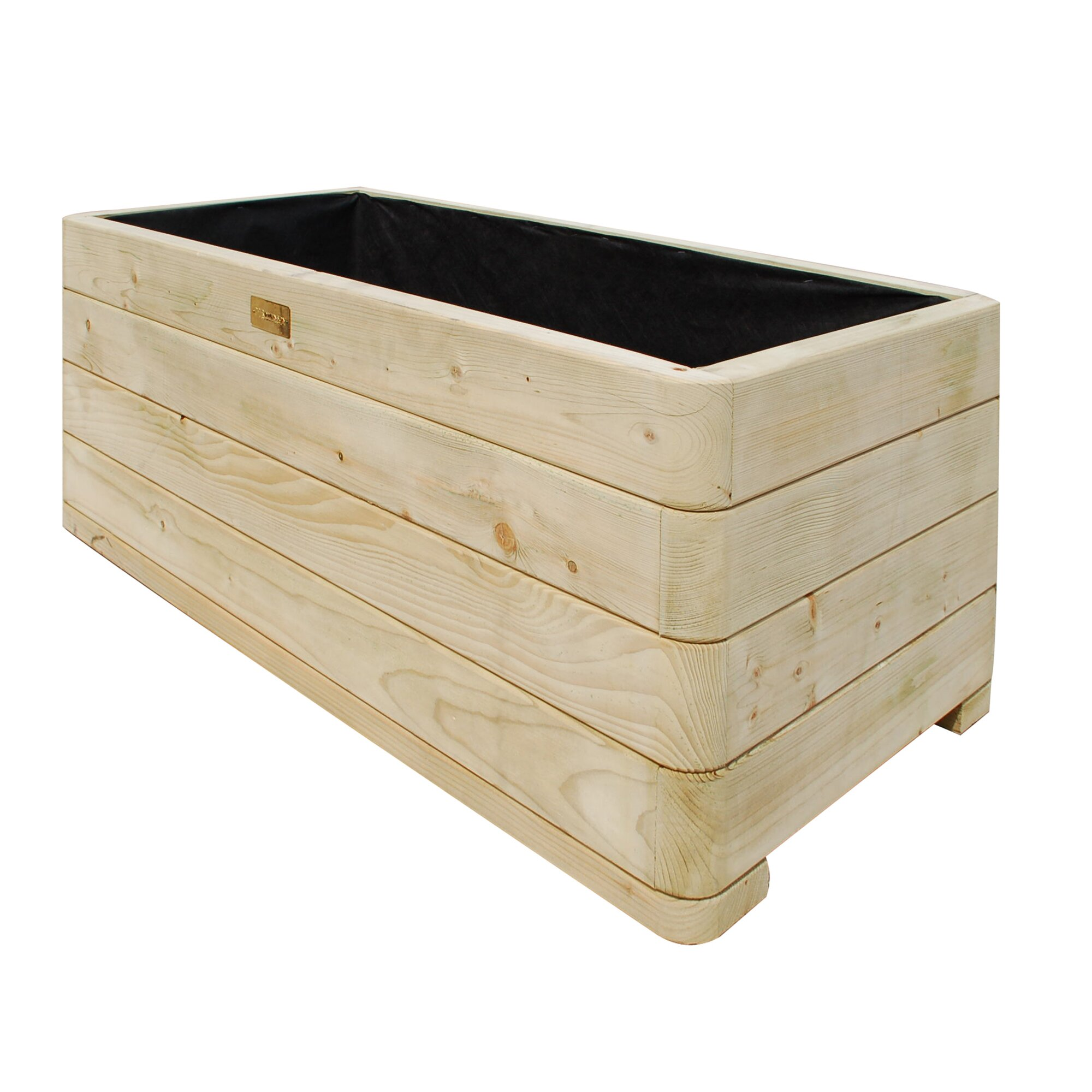 Rowlinson rectangular planter box reviews wayfair for Wayfair garden box