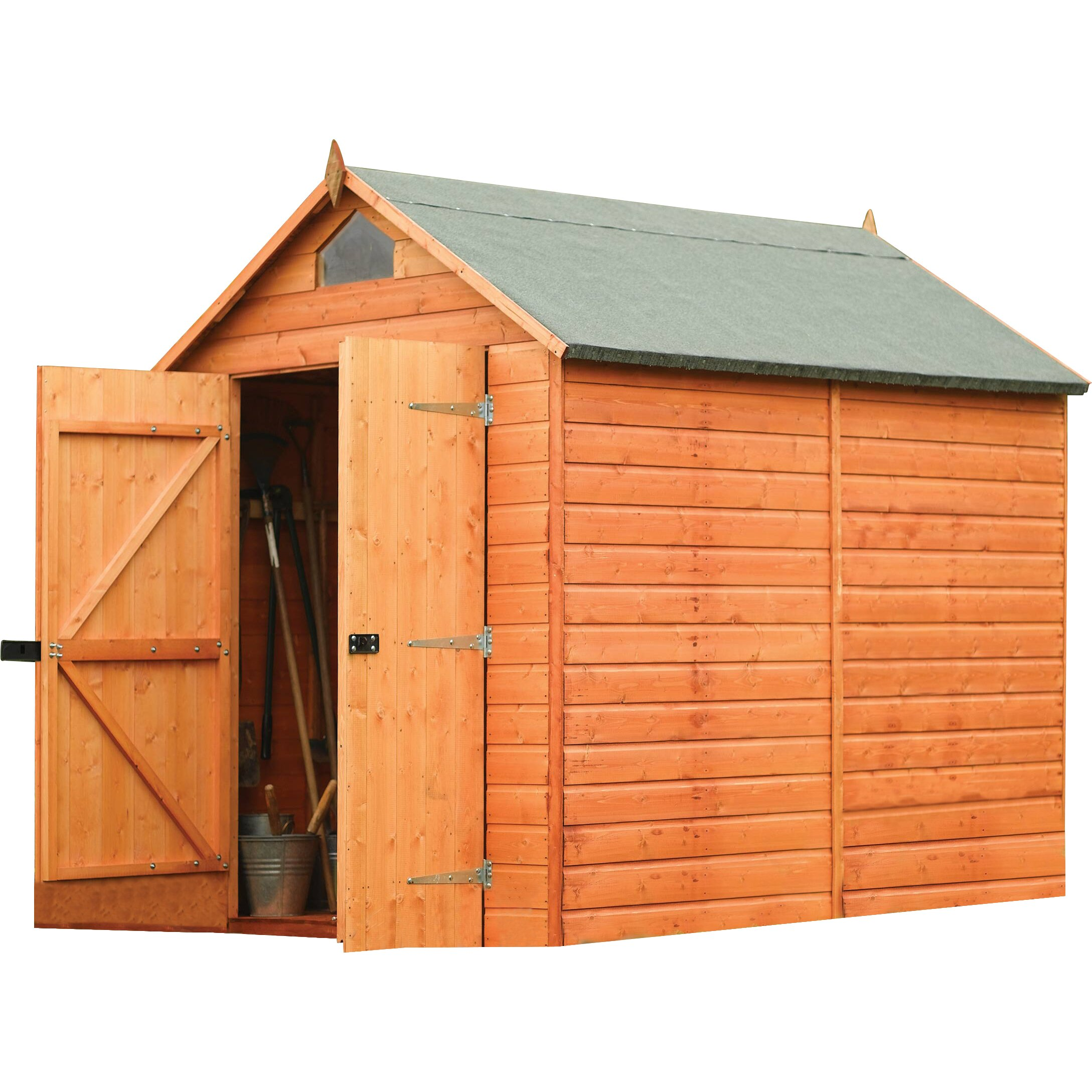 Rowlinson 6 ft w x 8 ft d secure storage shed reviews for Garden shed 8 x 6