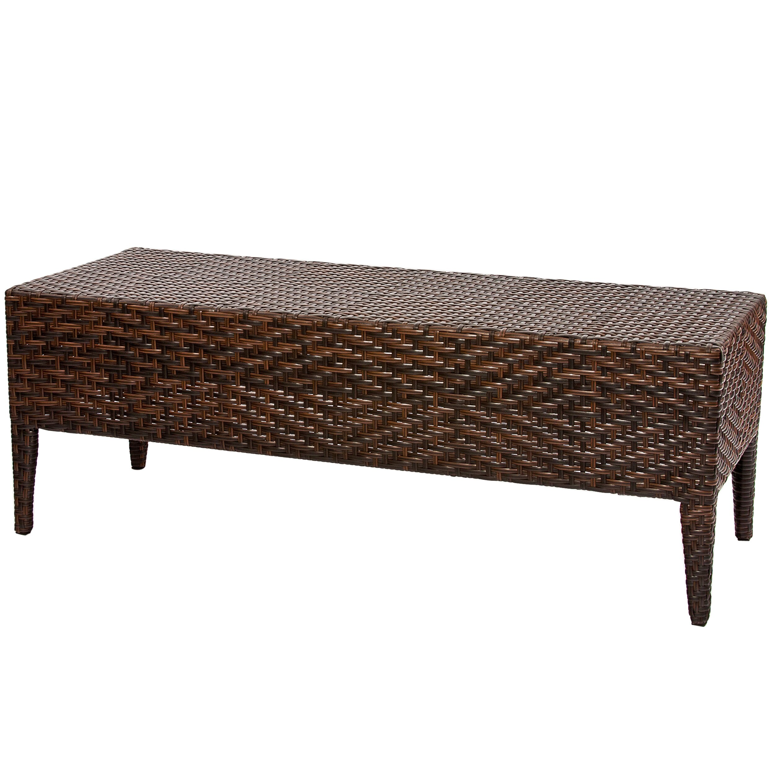 Home Loft Concepts Hobbes Wicker Garden Bench Reviews Wayfair