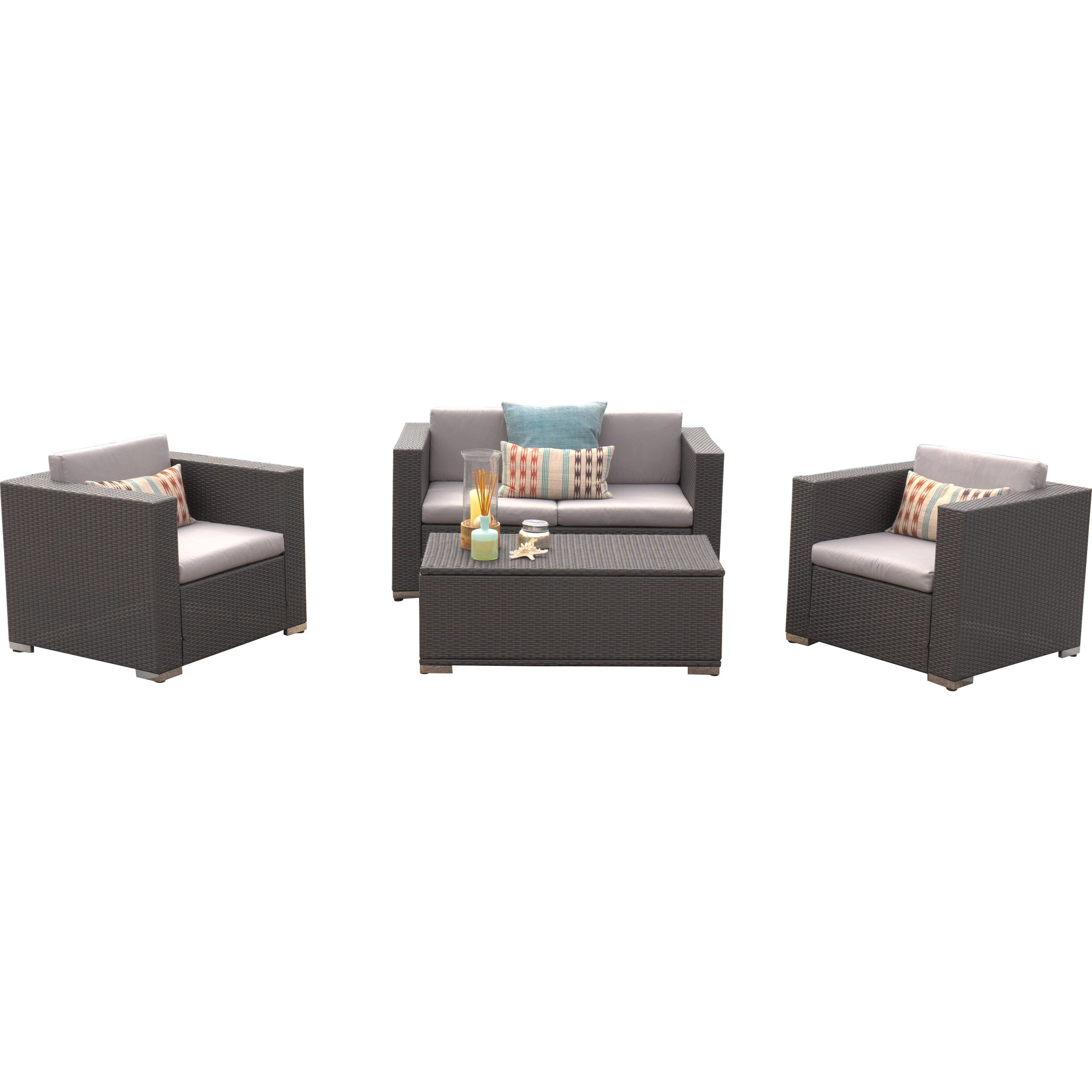 home loft concepts murano 4 piece deep seating group with
