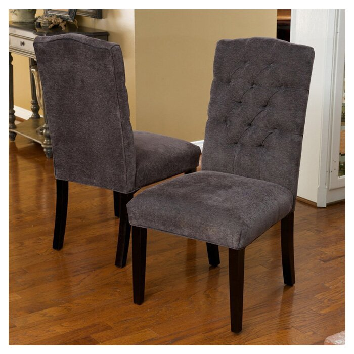 Home Loft Concepts Carrize Crown Top Fabric Dining Chair