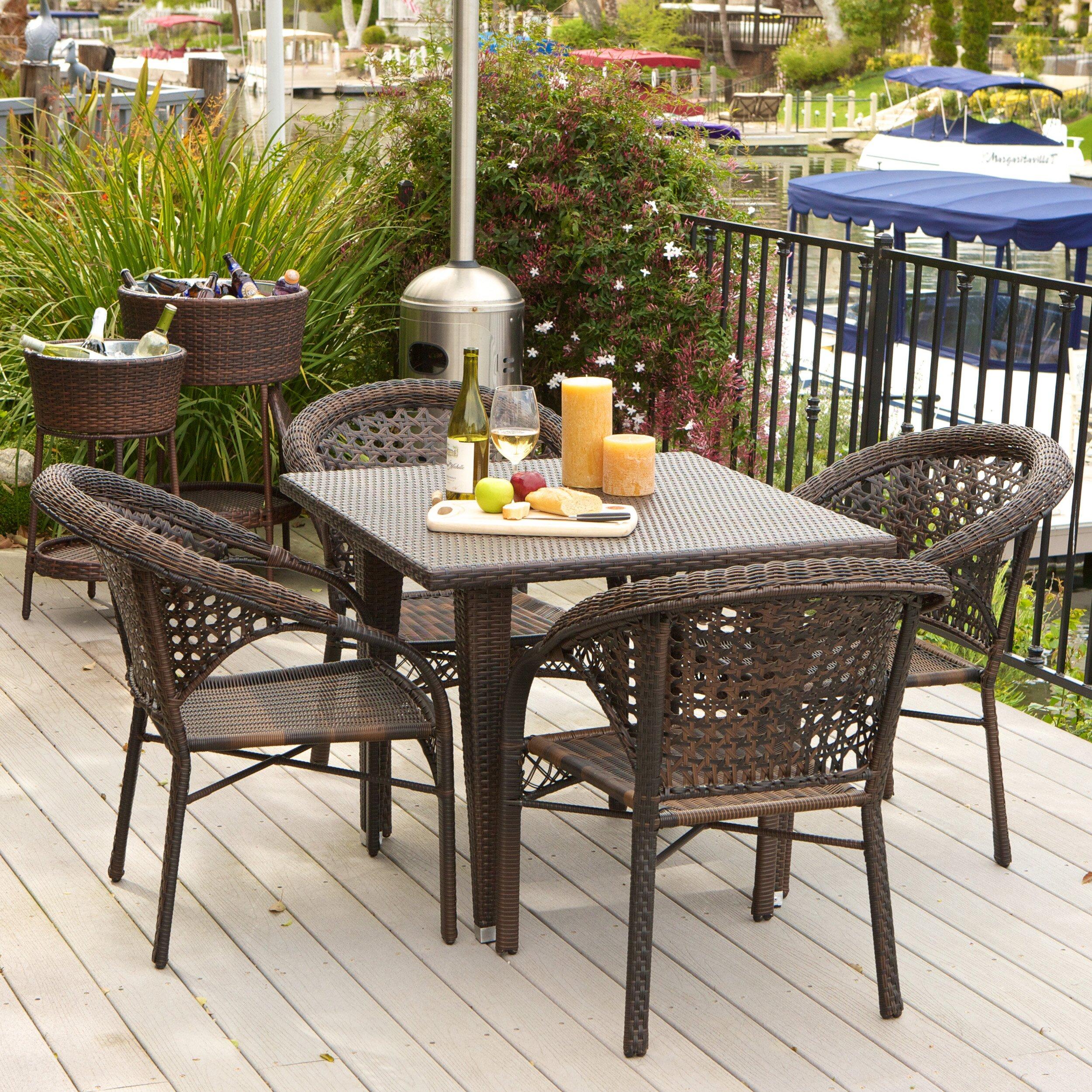 Brayden Studio Alsup 5 Piece Outdoor Dining Set Reviews Wayfair