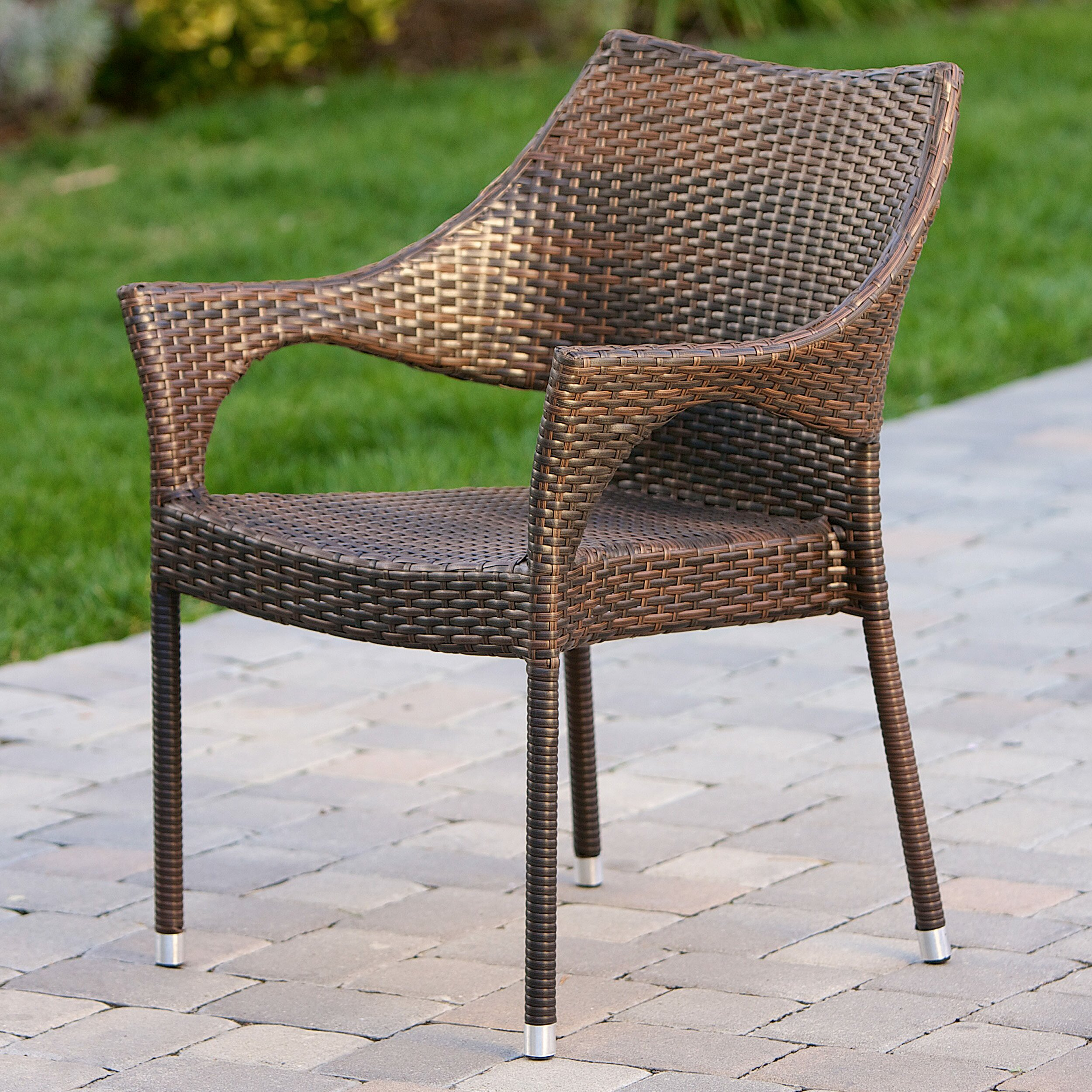 Home Loft Concepts Norm Outdoor Wicker Arm Chair Amp Reviews