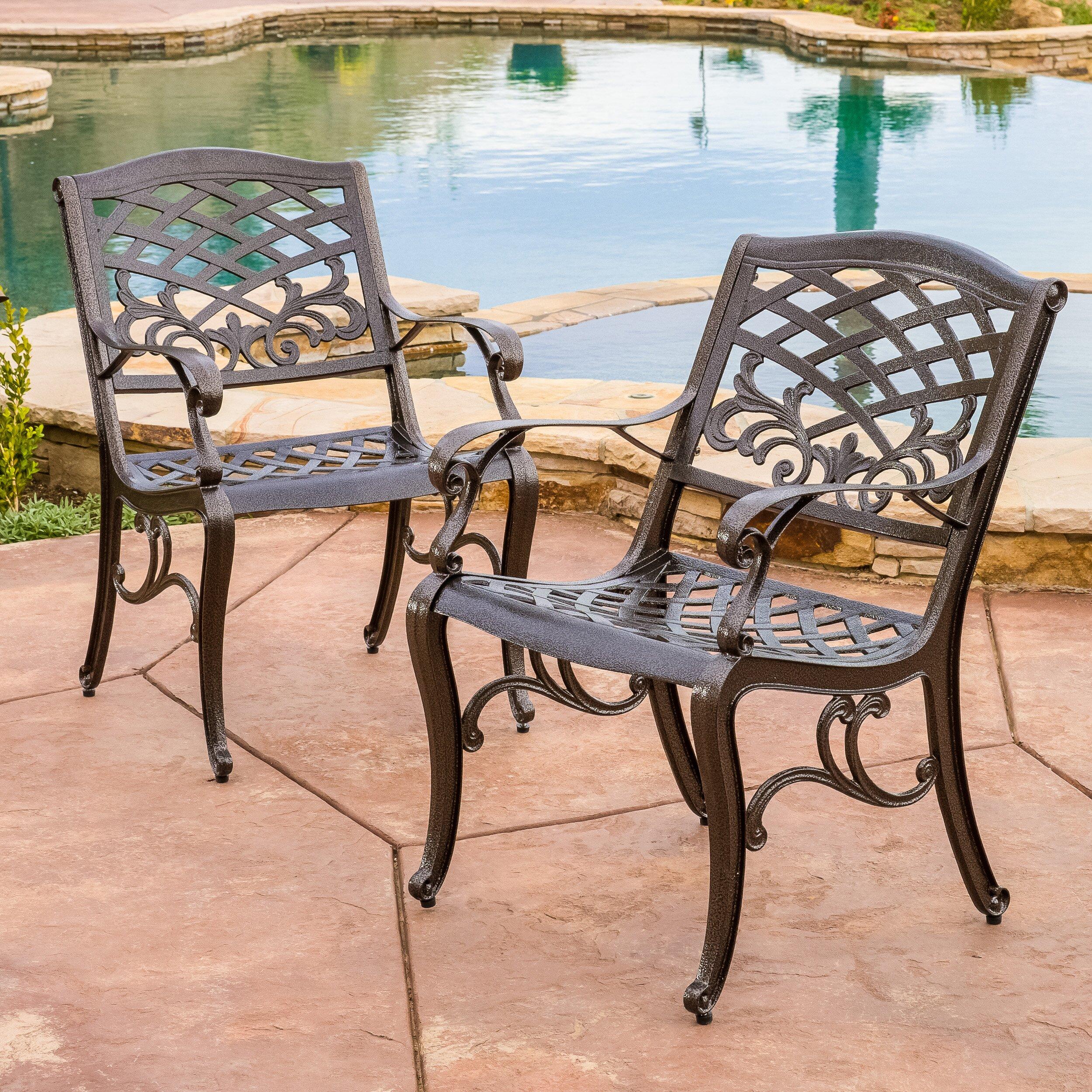 Home Loft Concepts Griffen Cast Aluminum Outdoor Chair