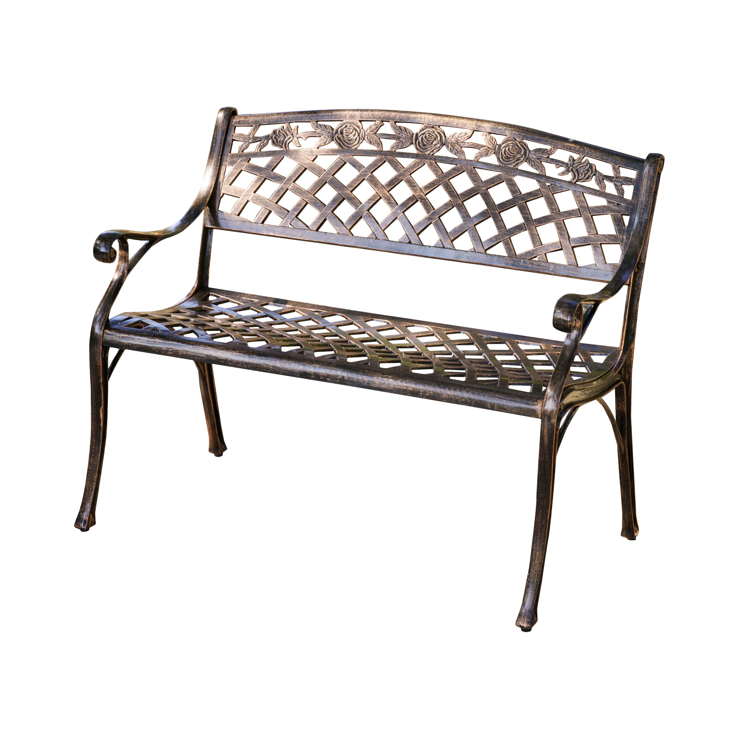 Alcott hill closson cast aluminum garden bench reviews wayfair Aluminum benches