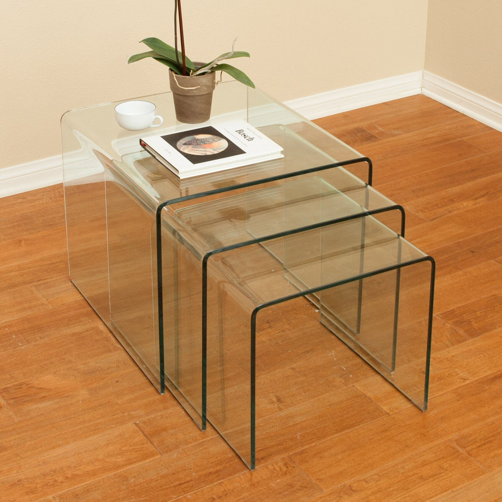 Home Loft Concepts Celeia 3 Piece Nesting Tables & Reviews Wayfair. Full resolution  photo, nominally Width 1700 Height 1700 pixels, photo with #9D622E.