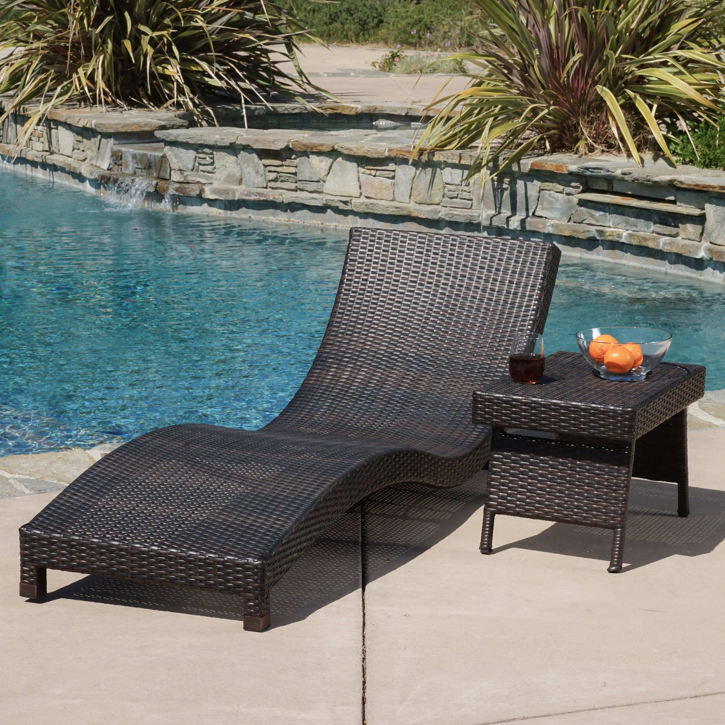 Home Loft Concepts Cabrillo 2 Piece Chaise Lounge Set & Reviews