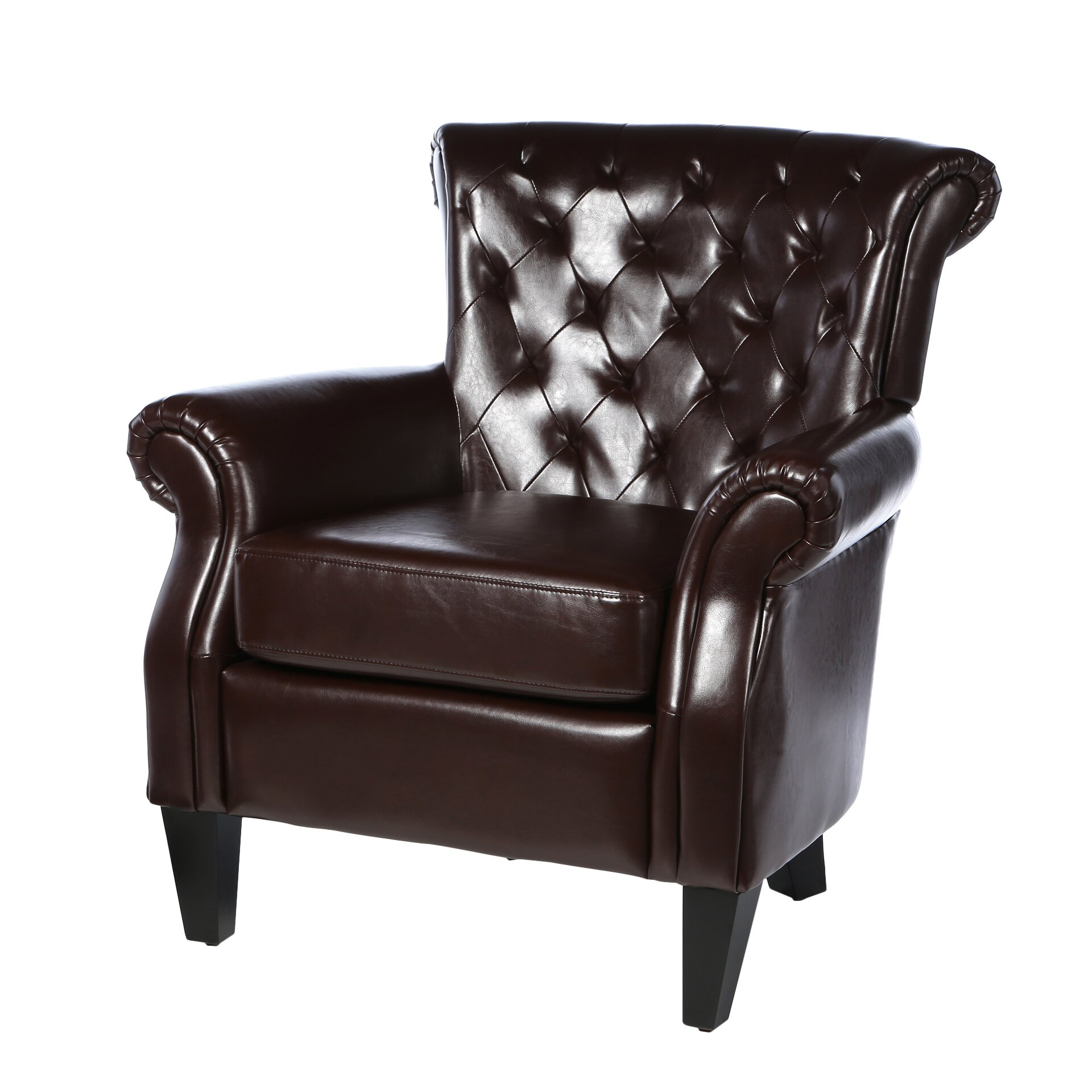Home loft concepts mcclain tufted upholstered arm chair reviews wayfair - Upholstered chairs for small spaces concept ...