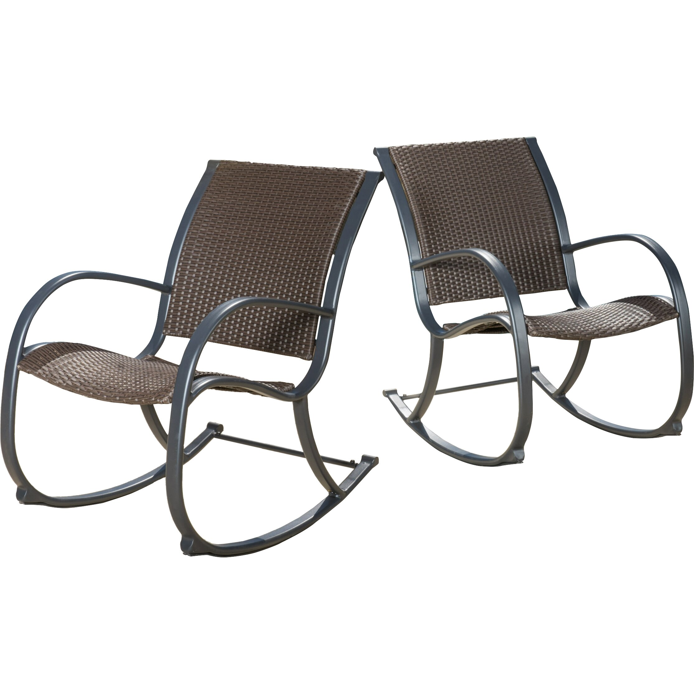 ... Wicker/Rattan Patio Rocking Chairs & Gliders Home Loft Concepts SKU