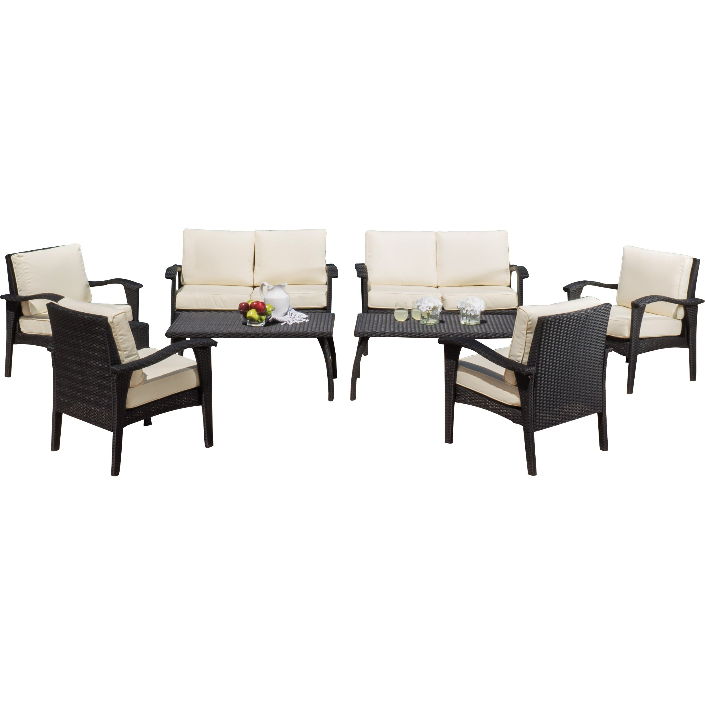 Home Loft Concepts Waikiki 8 Piece Lounge Seating Group